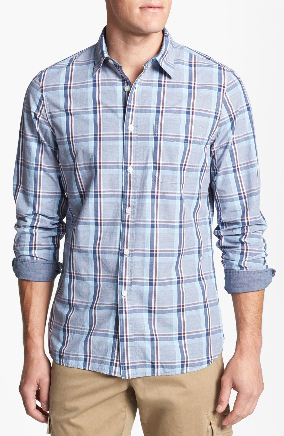 Alternate Image 1 Selected - Wallin & Bros. Trim Fit Poplin Sport Shirt