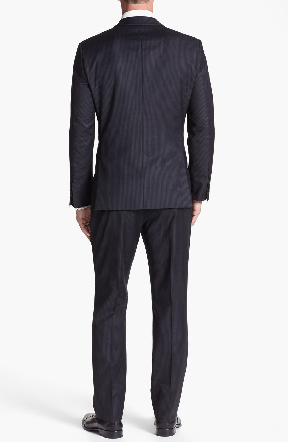 Alternate Image 3  - BOSS HUGO BOSS 'Howard/Court' Trim Fit Three Piece Suit