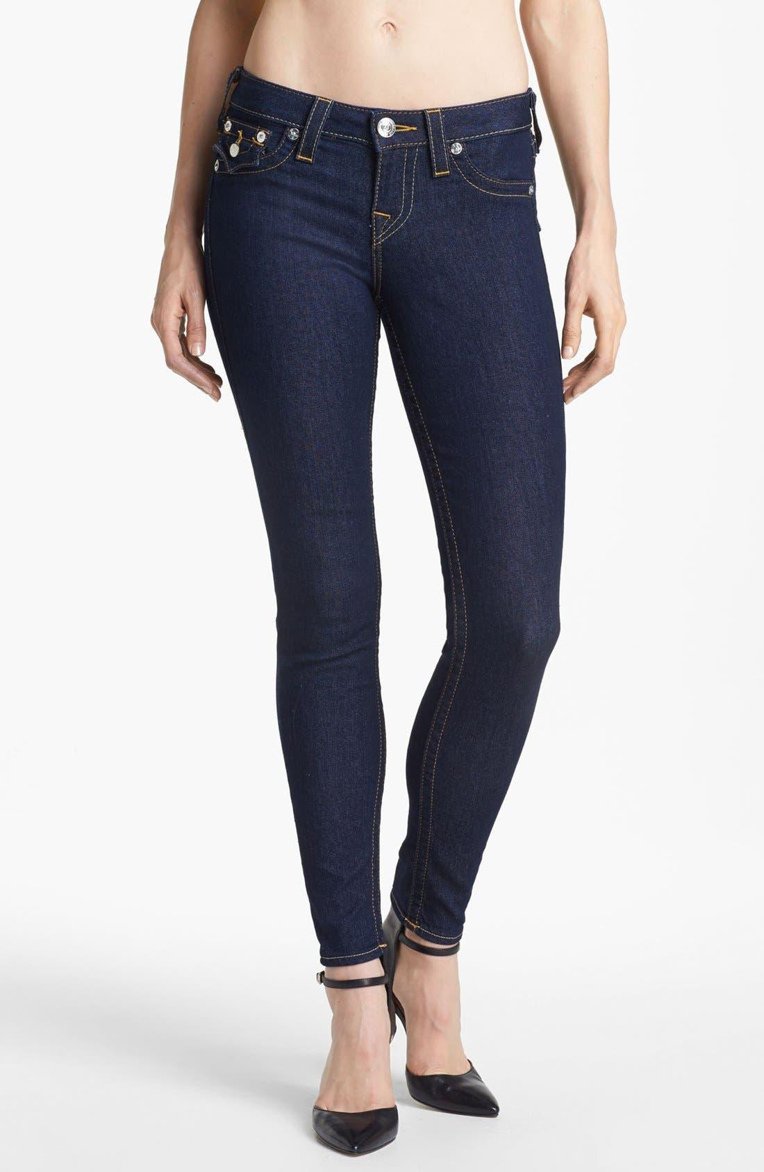Alternate Image 1 Selected - True Religion Brand Jeans 'Serena' Denim Leggings (Body Rinse) (Online Only)