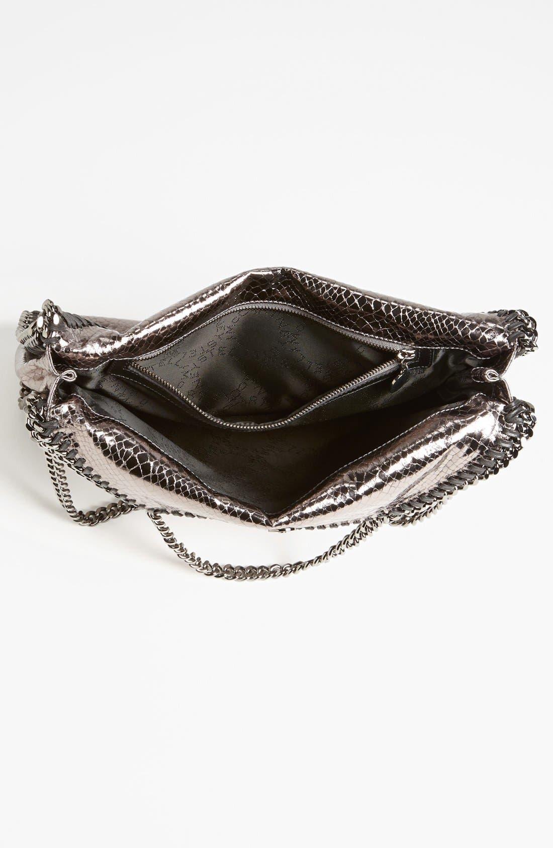 Alternate Image 3  - Stella McCartney 'Falabella' Metallic Snake Print Foldover Tote, Small