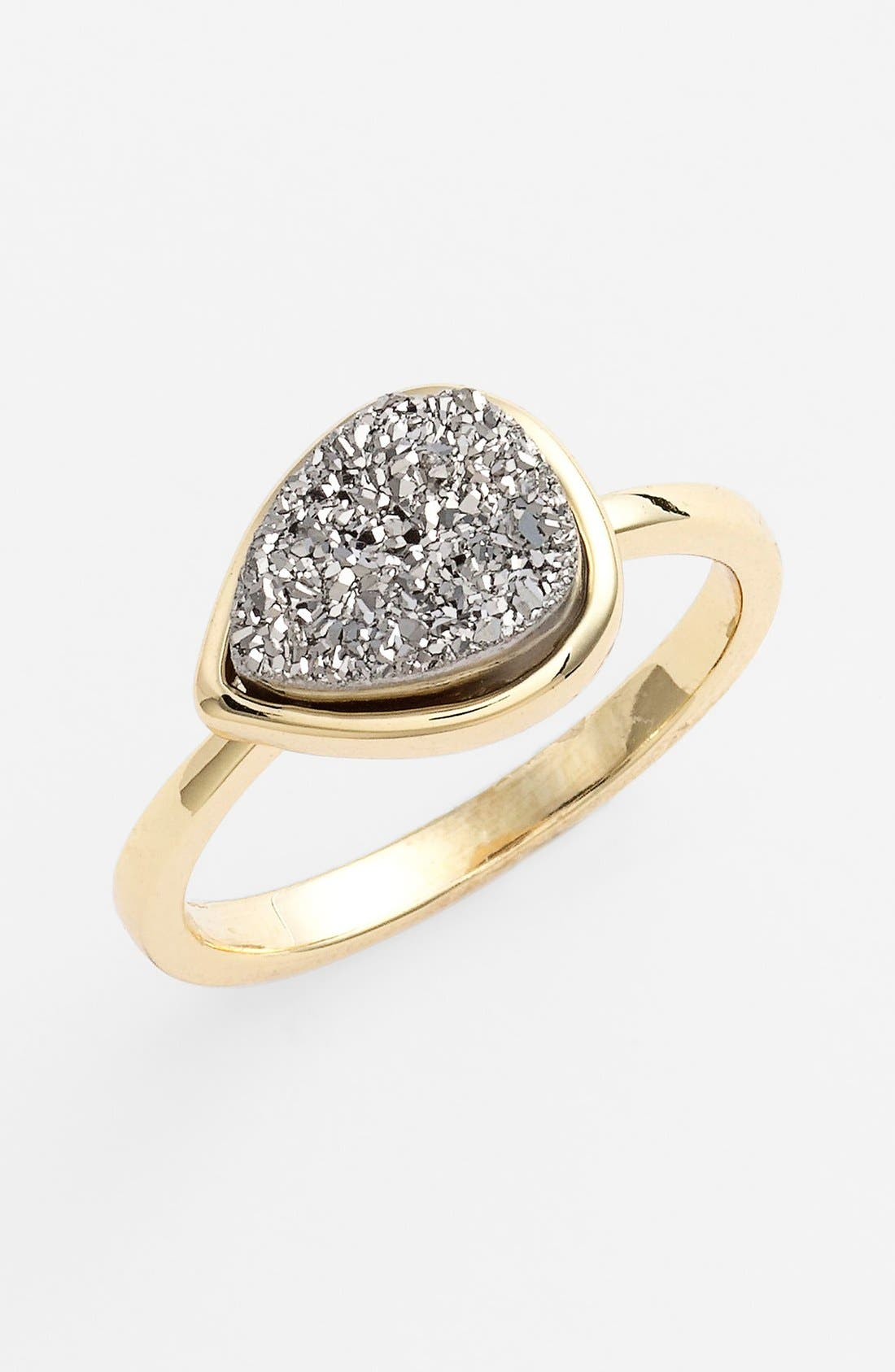 Alternate Image 1 Selected - Marcia Moran Teardrop Drusy Ring (Online Only)