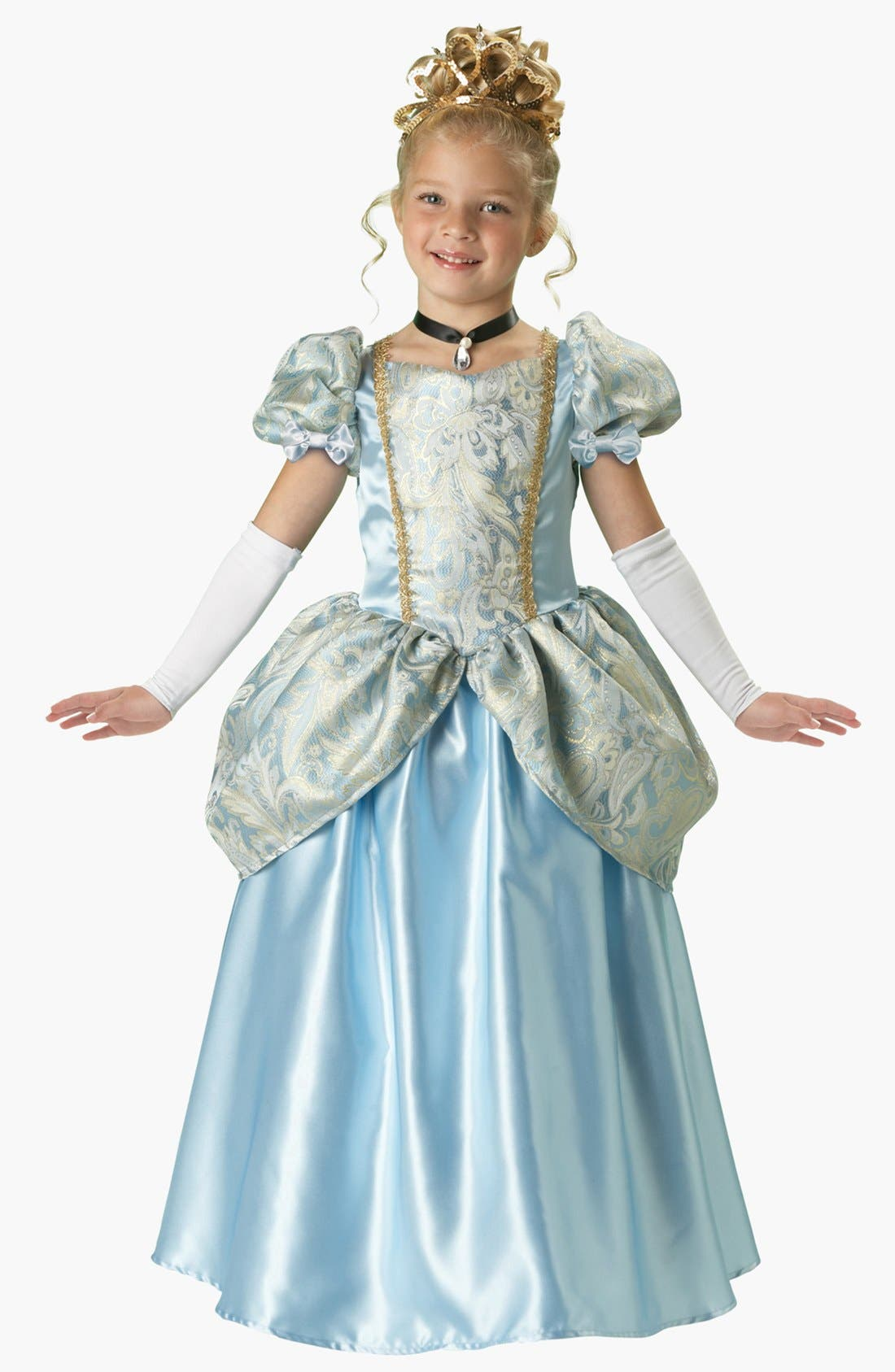Alternate Image 1 Selected - InCharacter Costume 'Enchanting Princess' Gown & Choker (Little Girls & Big Girls)