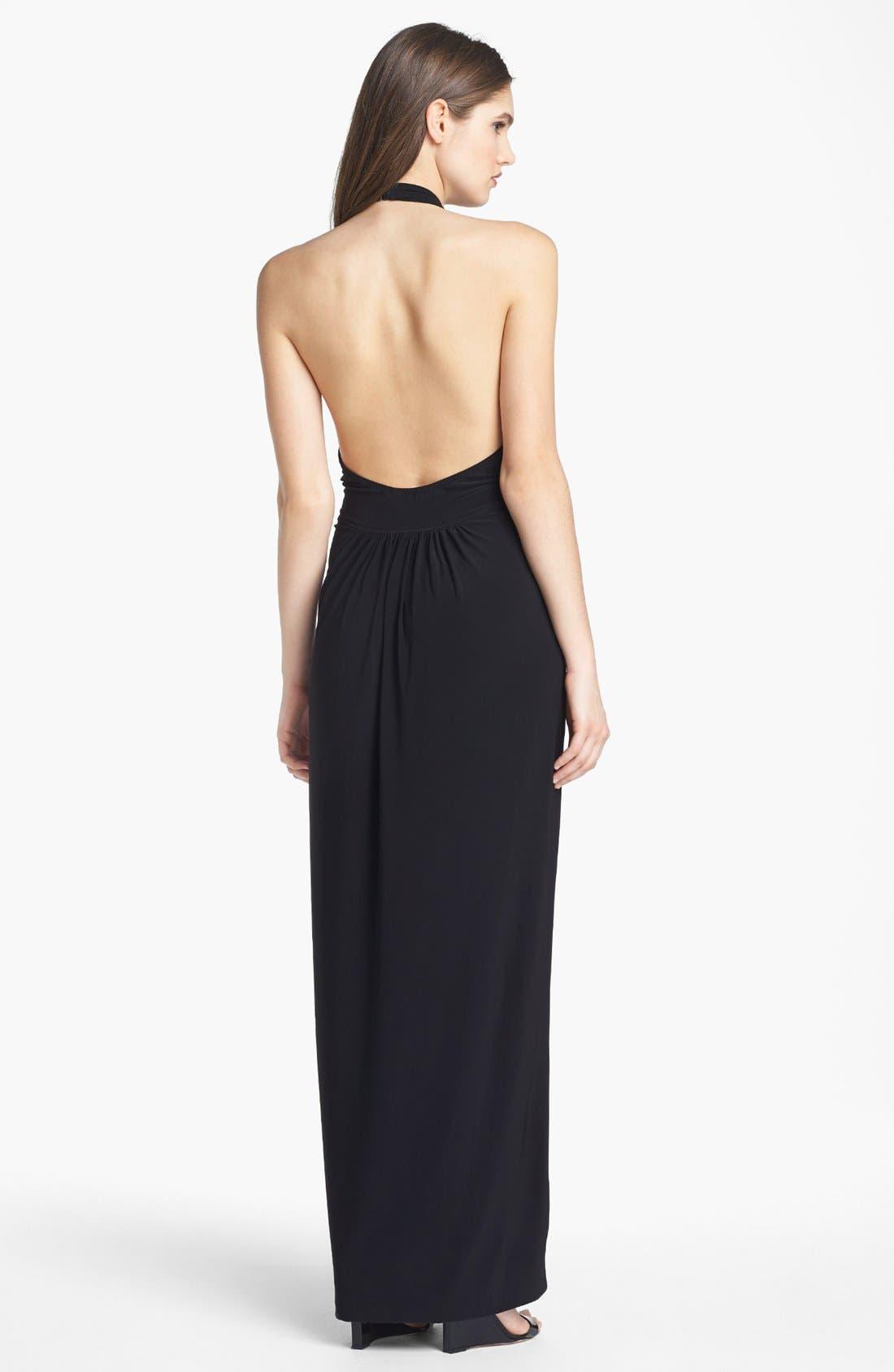 Alternate Image 2  - KAMALIKULTURE V-Neck Halter Jersey Dress