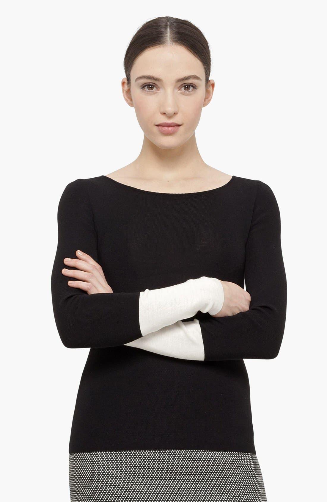 Alternate Image 1 Selected - Akris punto Wool Sweater