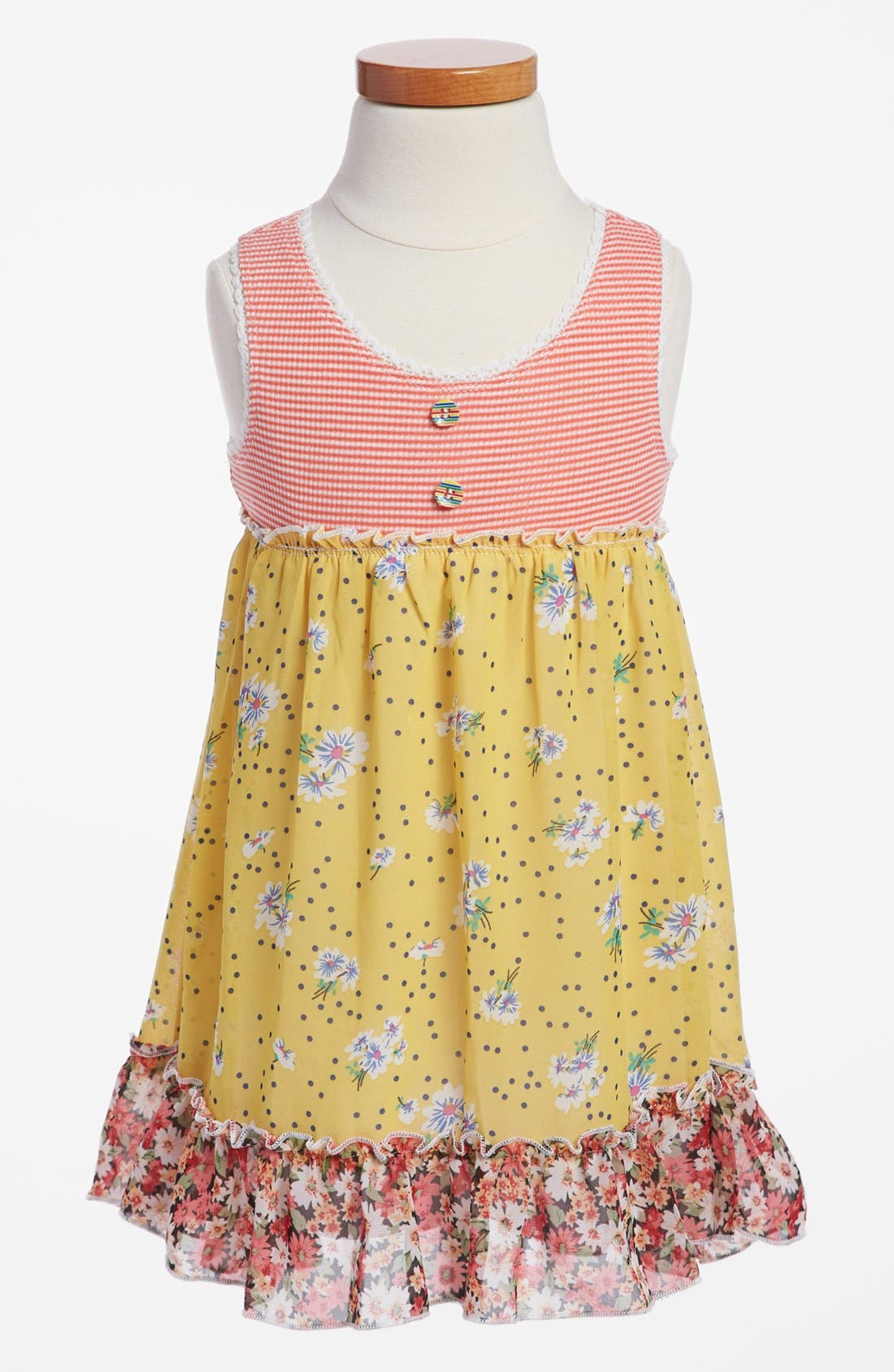Main Image - Truly Me Empire Waist Dress (Toddler Girls)