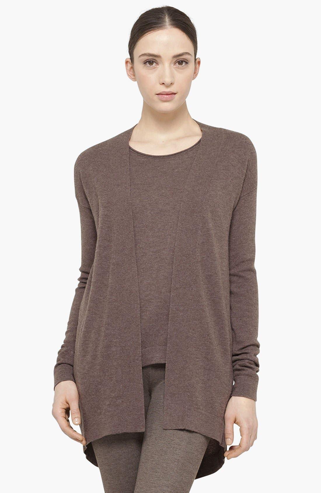 Alternate Image 1 Selected - Akris punto Long Wool & Cashmere Cardigan