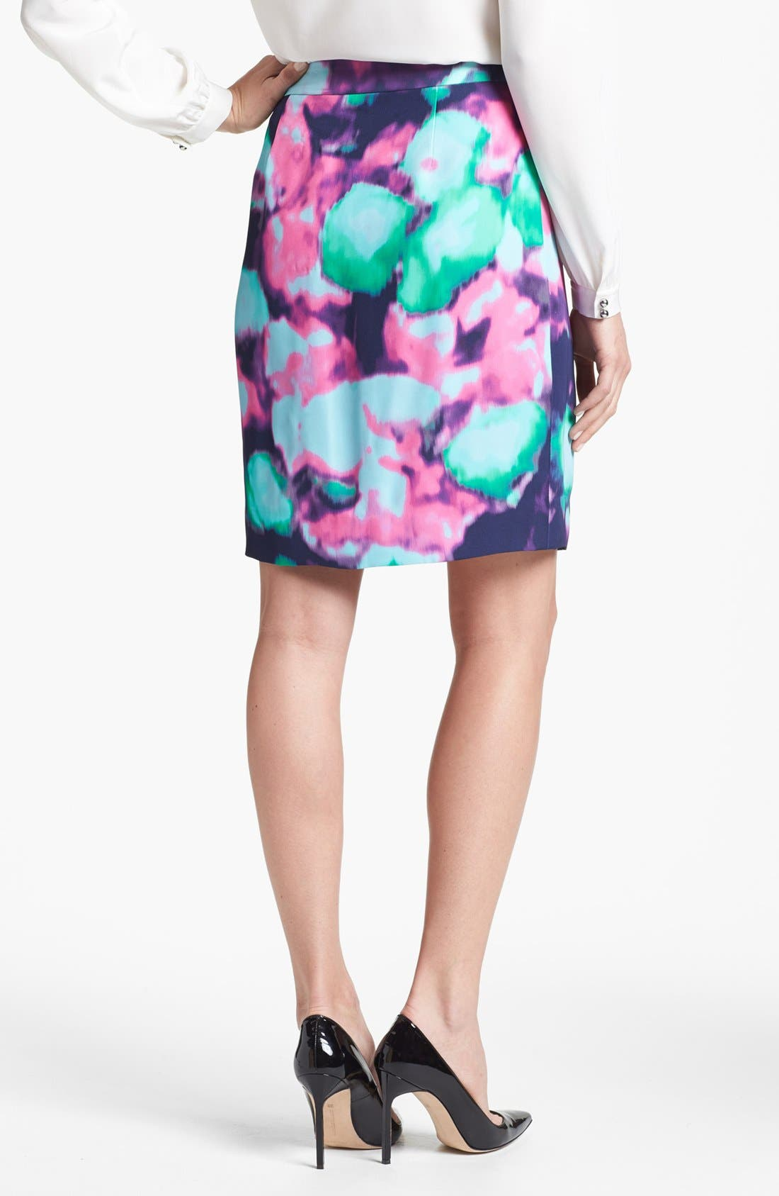 Alternate Image 2  - kate spade new york 'barry' abstract floral print skirt