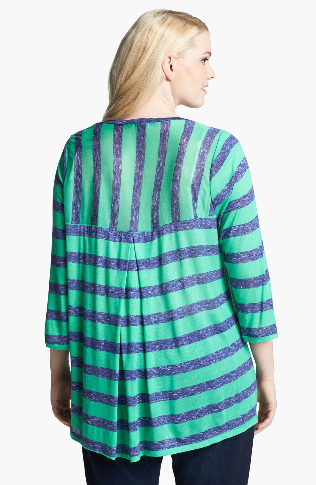 Alternate Image 2  - Splendid Stripe Box Pleat Top (Plus Size)