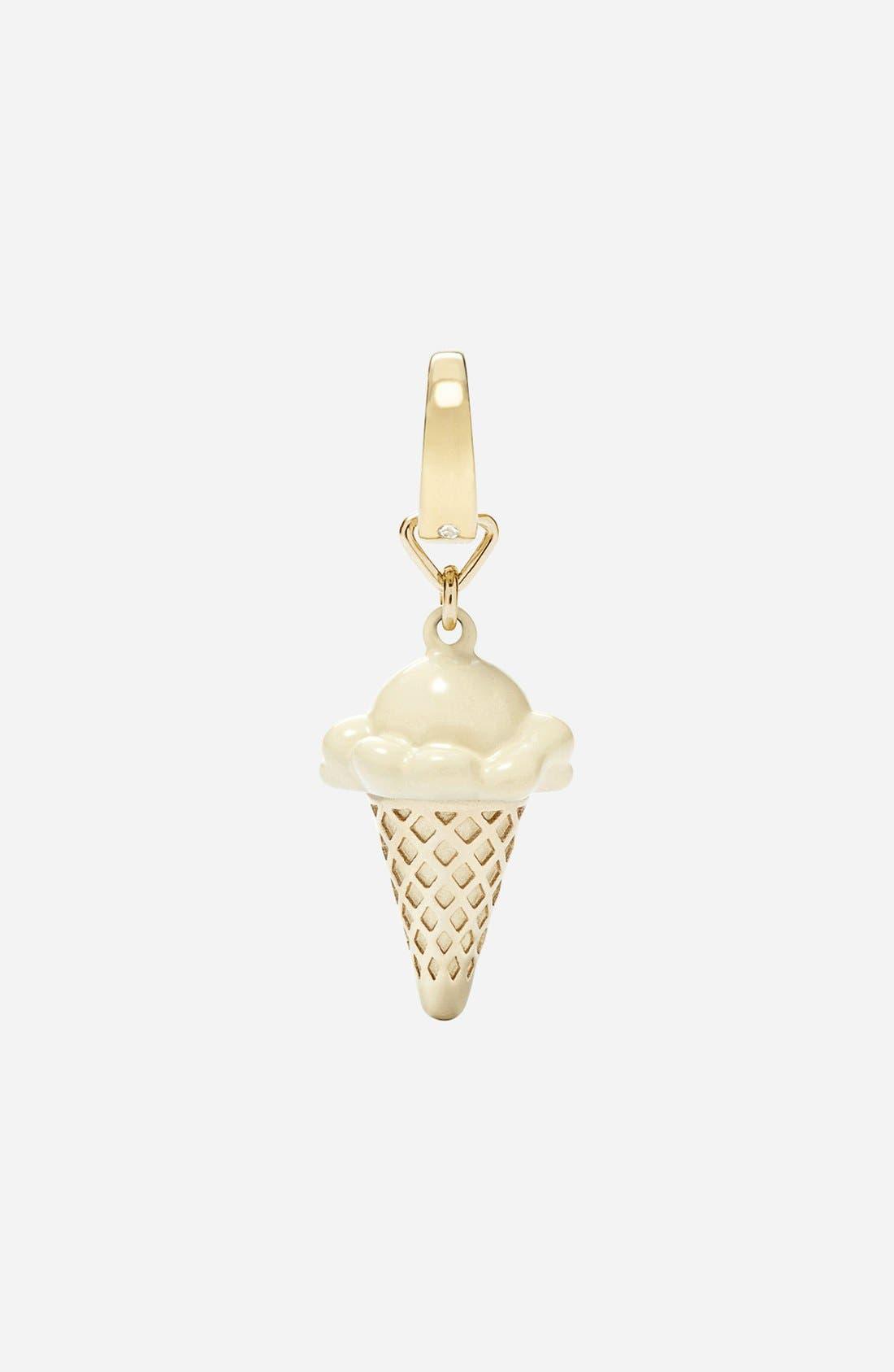 Main Image - Fossil Ice Cream Cone Dangle Charm