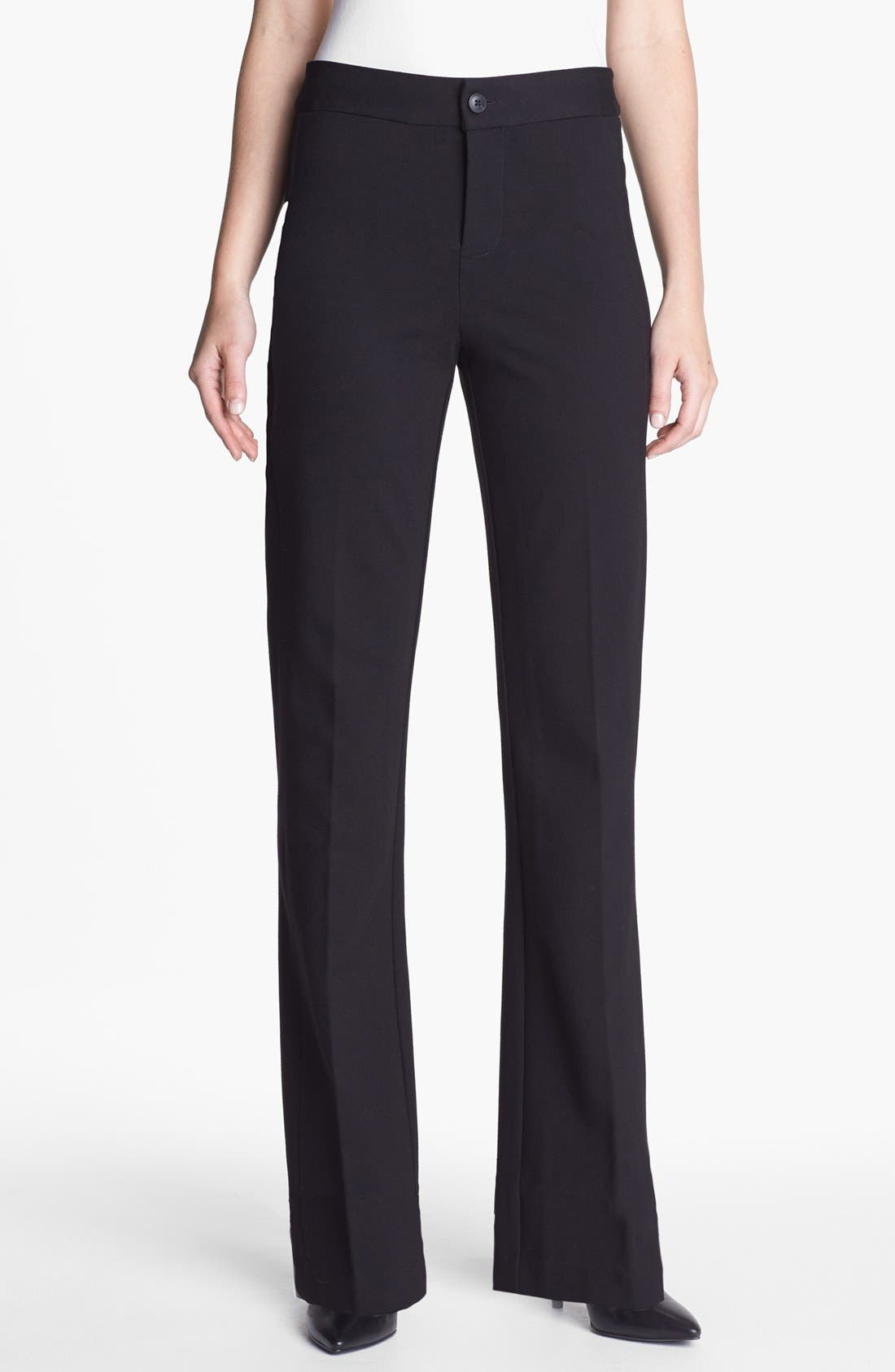 Alternate Image 1 Selected - NYDJ Stretch Ponte Trousers (Regular & Petite)
