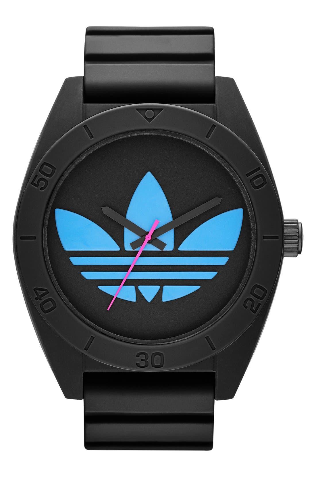 Main Image - adidas Originals 'Santiago XL' Silicone Strap Watch, 50mm