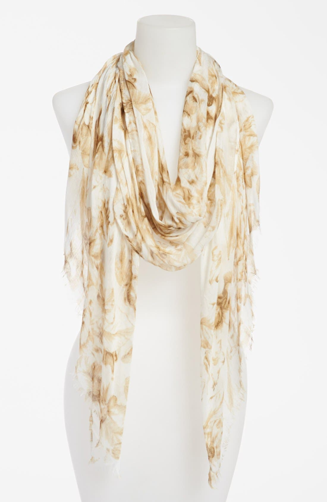 Main Image - Echo 'Linework Floral' Scarf