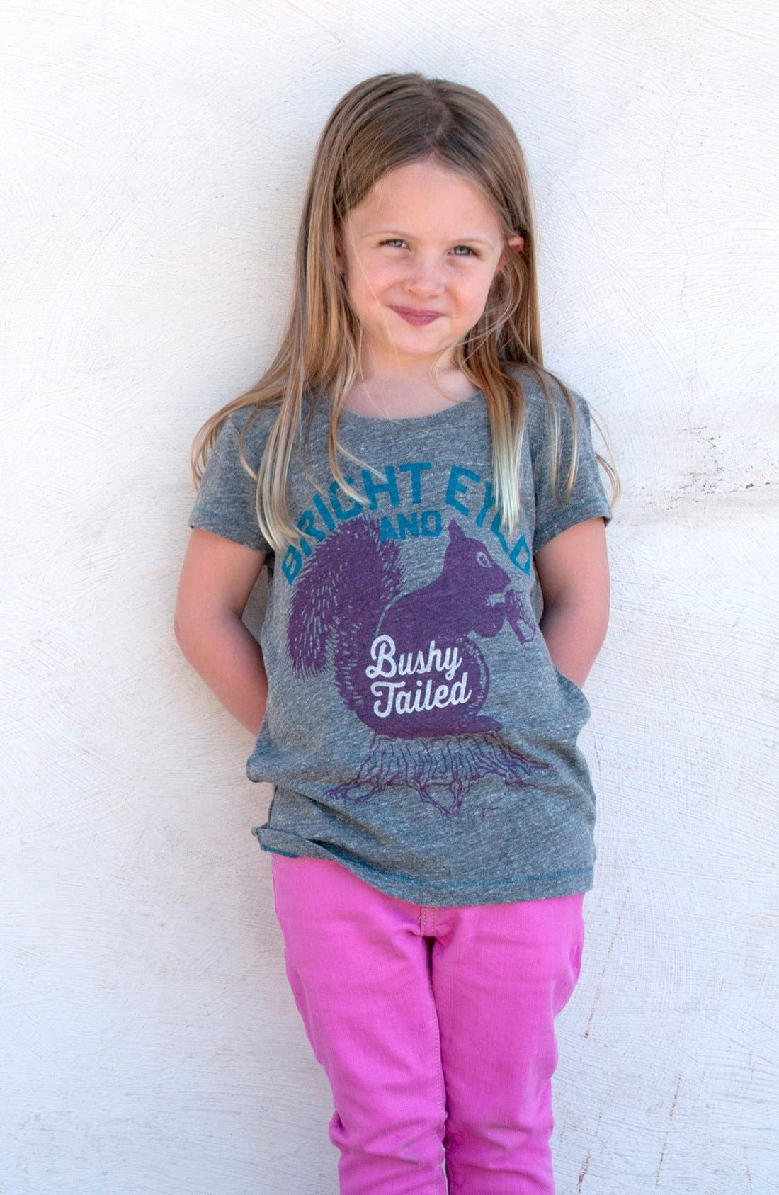 Alternate Image 2  - Peek 'Bright Eyed' Tee (Toddler Girls, Little Girls & Big Girls)