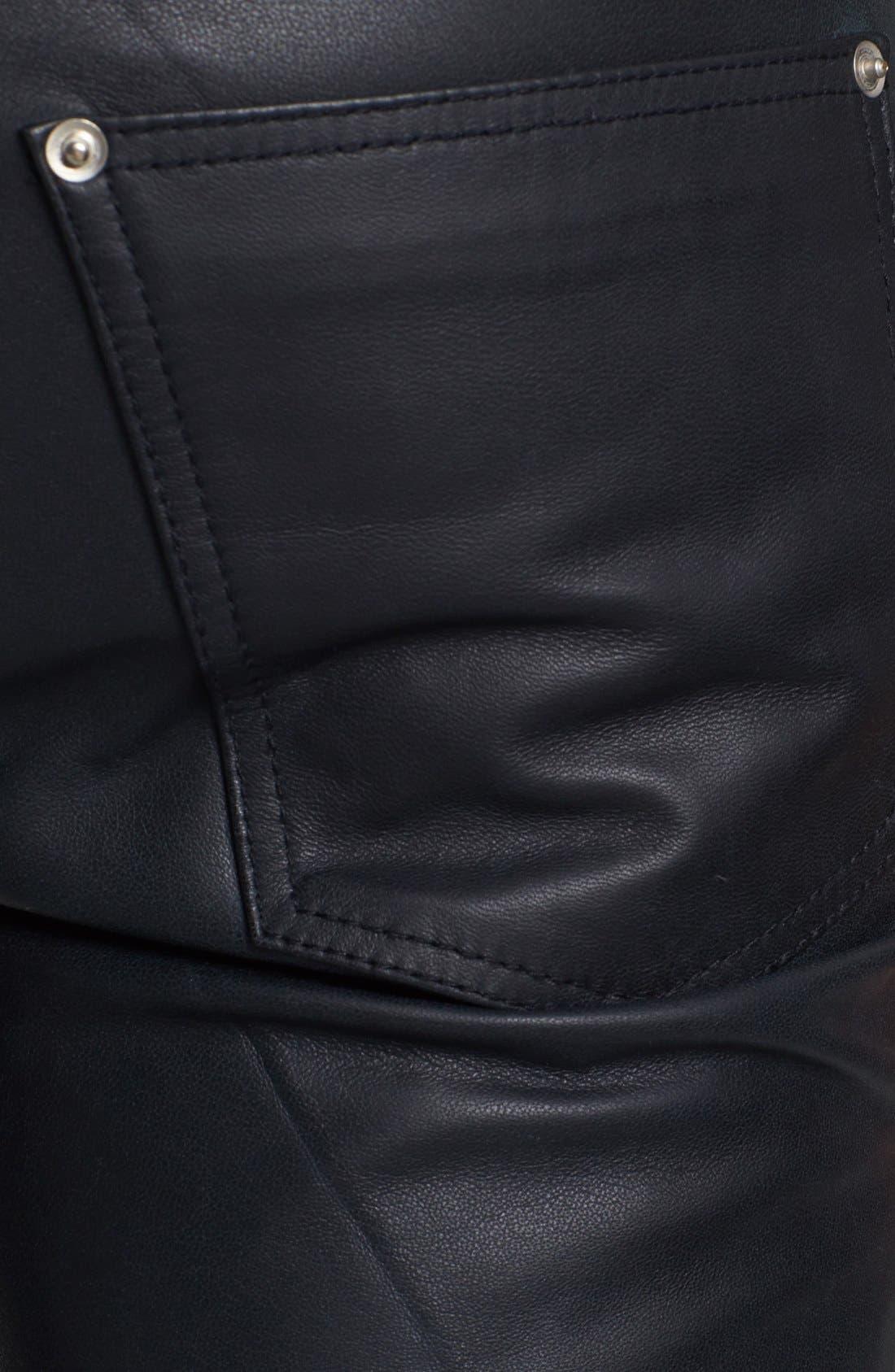 Alternate Image 4  - BLK DNM 'Rock N Roll' Skinny Fit Leather Pants