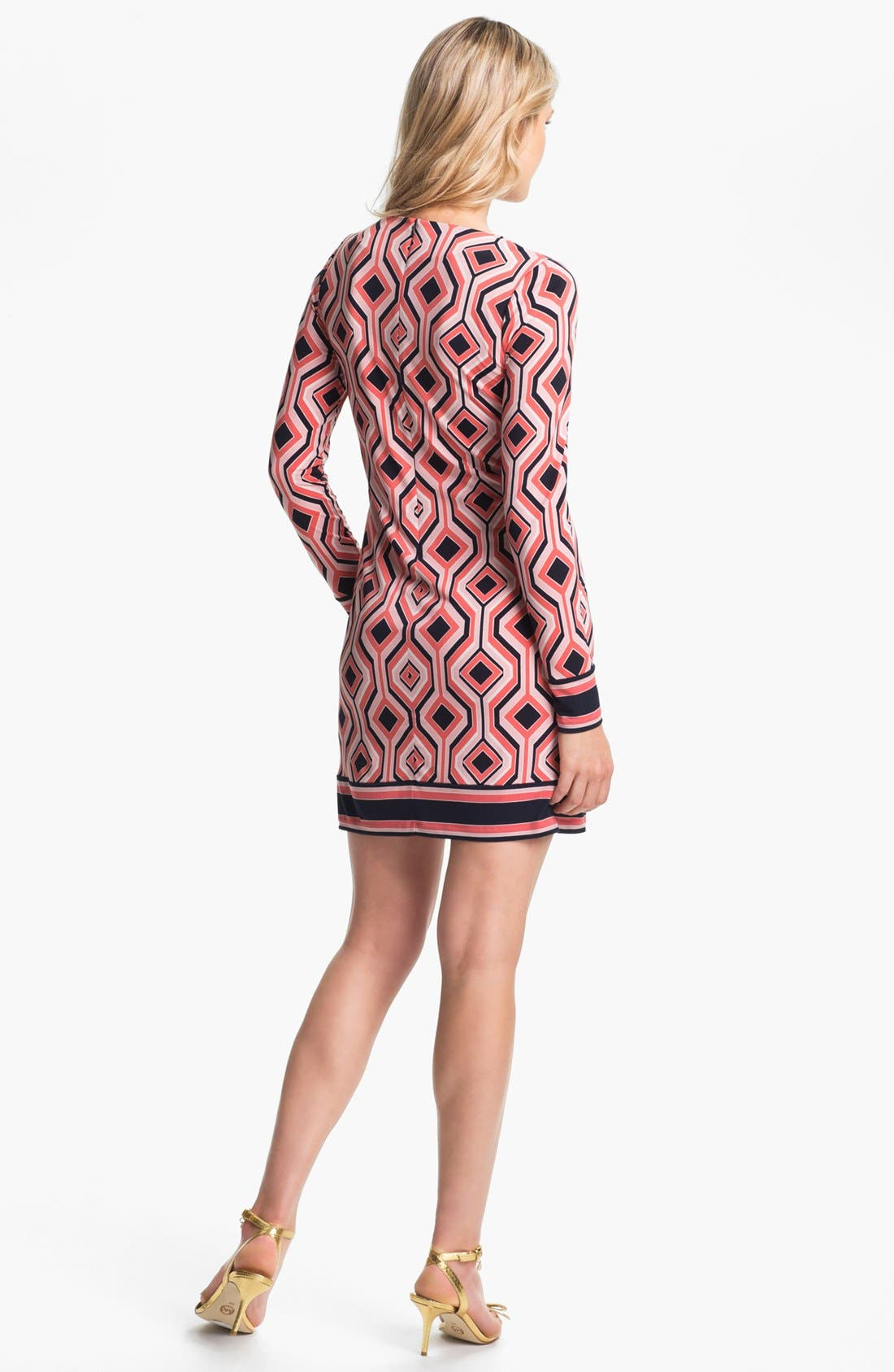 Alternate Image 2  - MICHAEL Michael Kors 'Argyle' Print Shift Dress (Petite)
