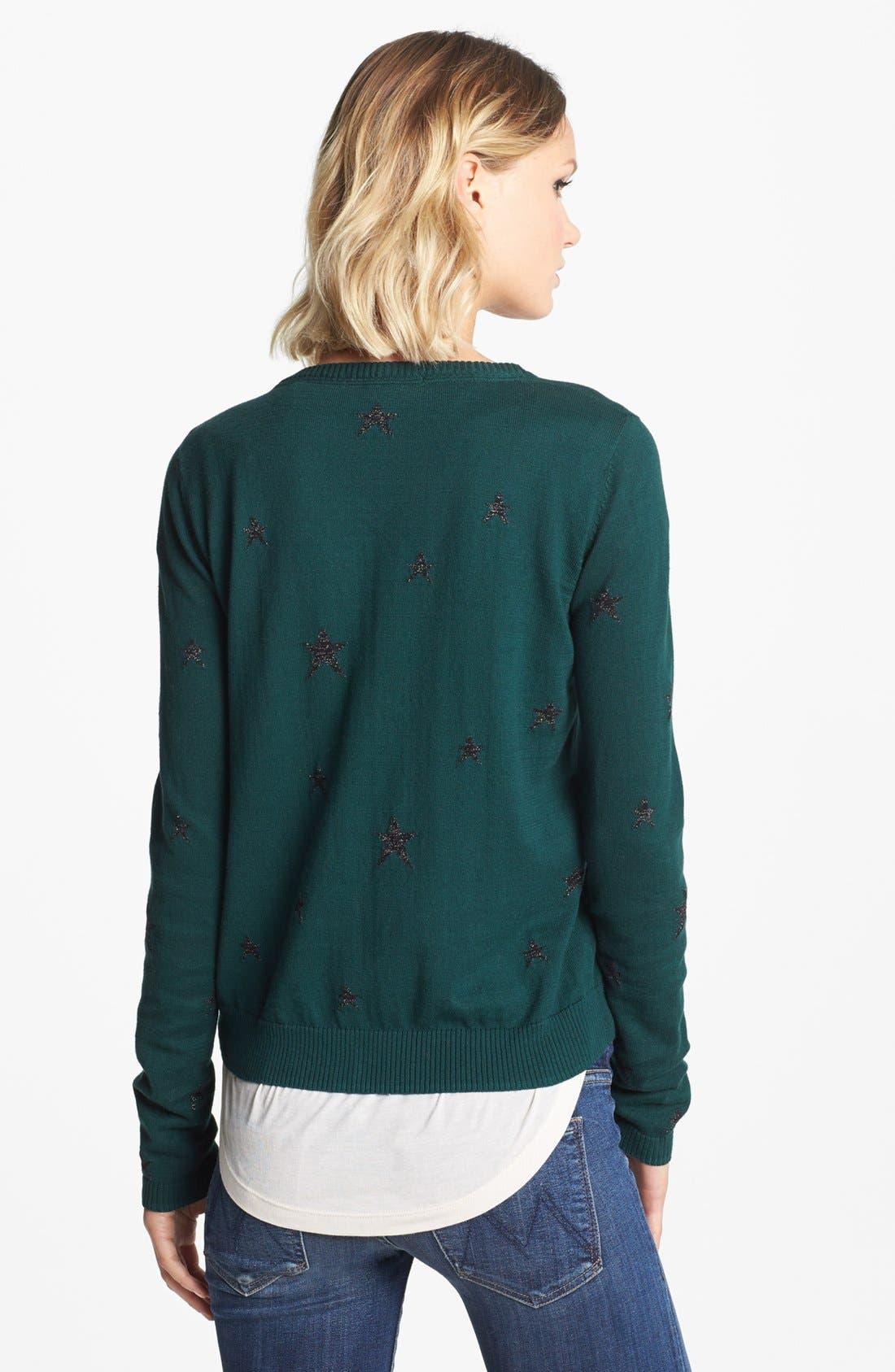 Alternate Image 2  - Maison Scotch Star Pattern Knit Cardigan