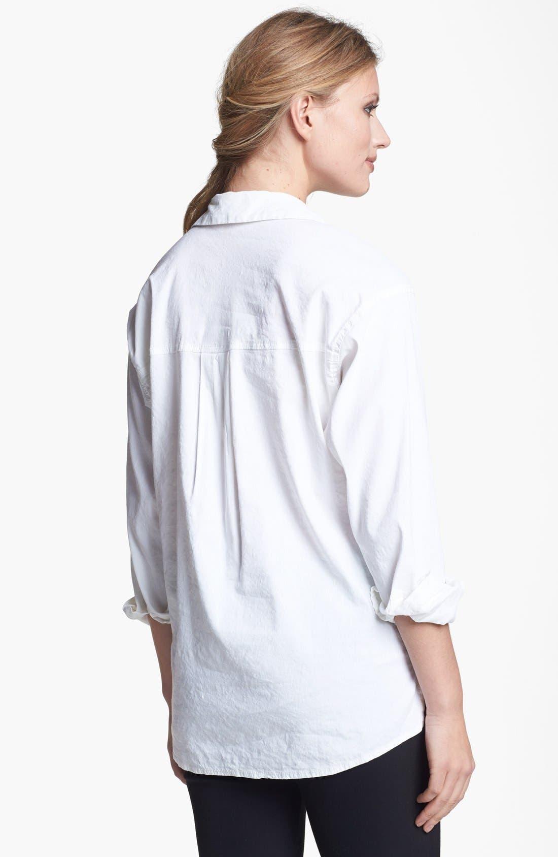 Alternate Image 2  - Eileen Fisher Stretch Linen Blend Oversized Shirt (Regular & Petite)