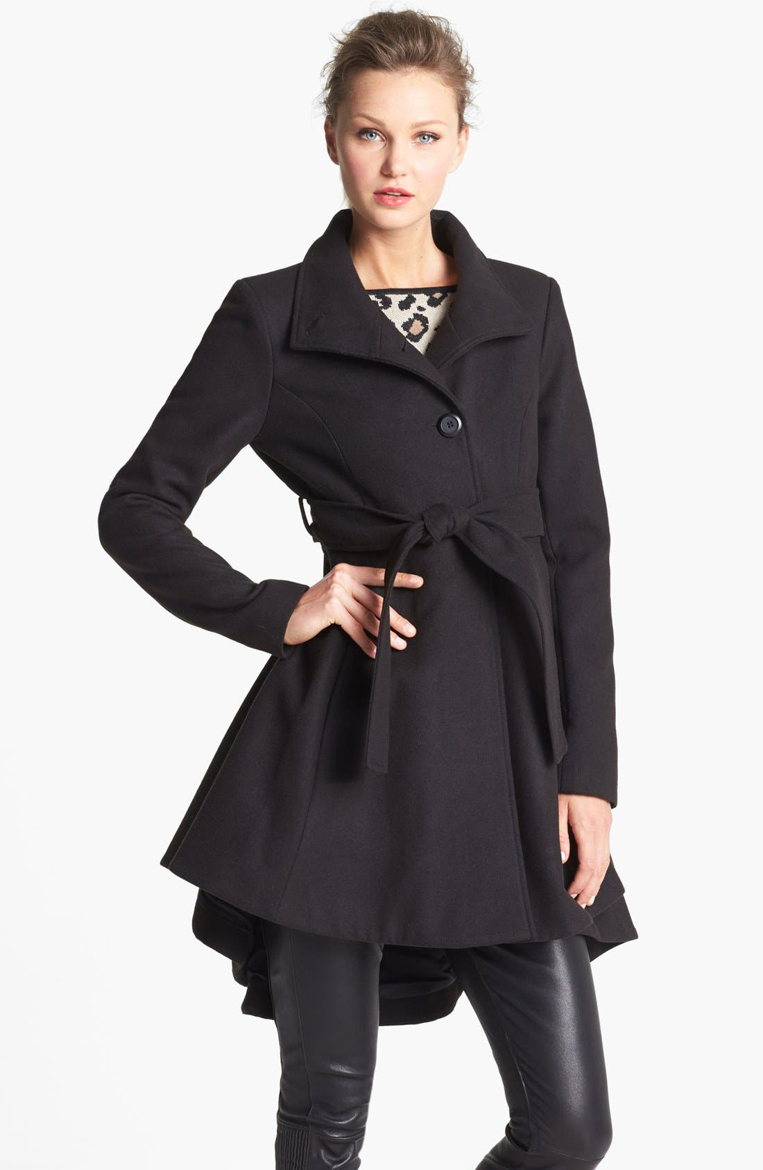 Main Image - BB Dakota High/Low Skirted Coat