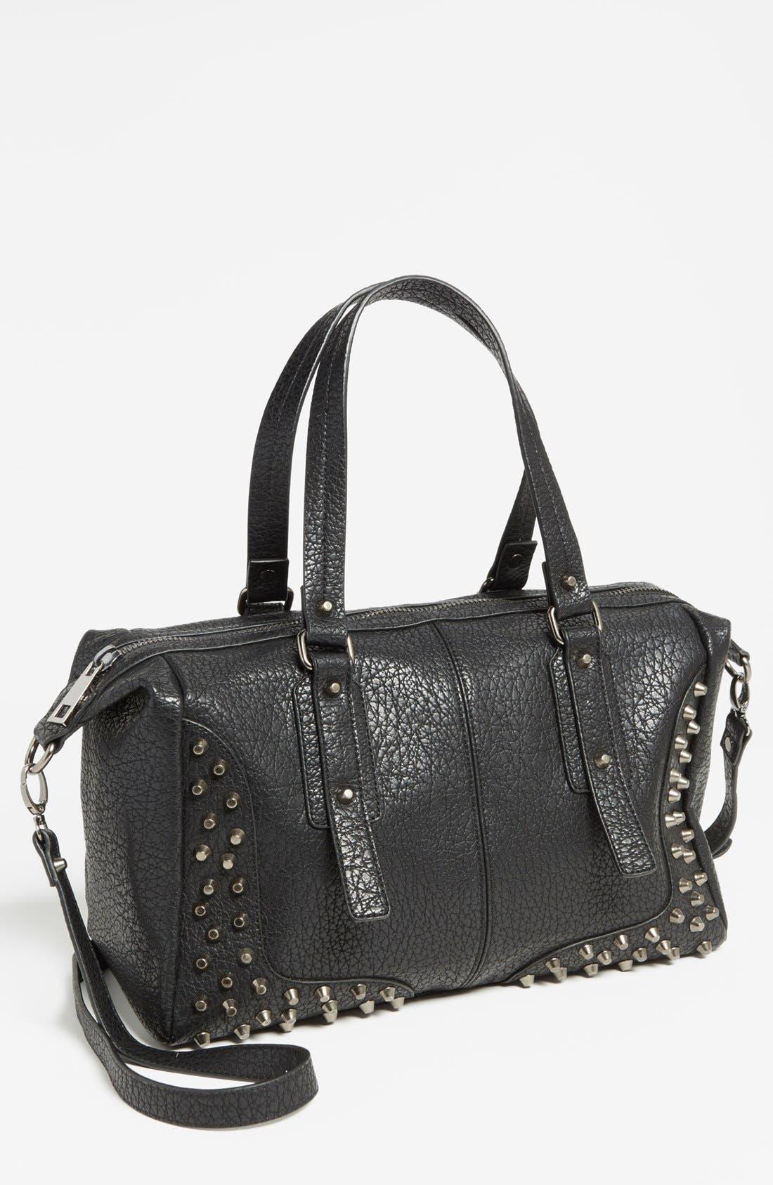 Alternate Image 1 Selected - Cesca 'Large' Studded Crossbody Bag (Juniors)