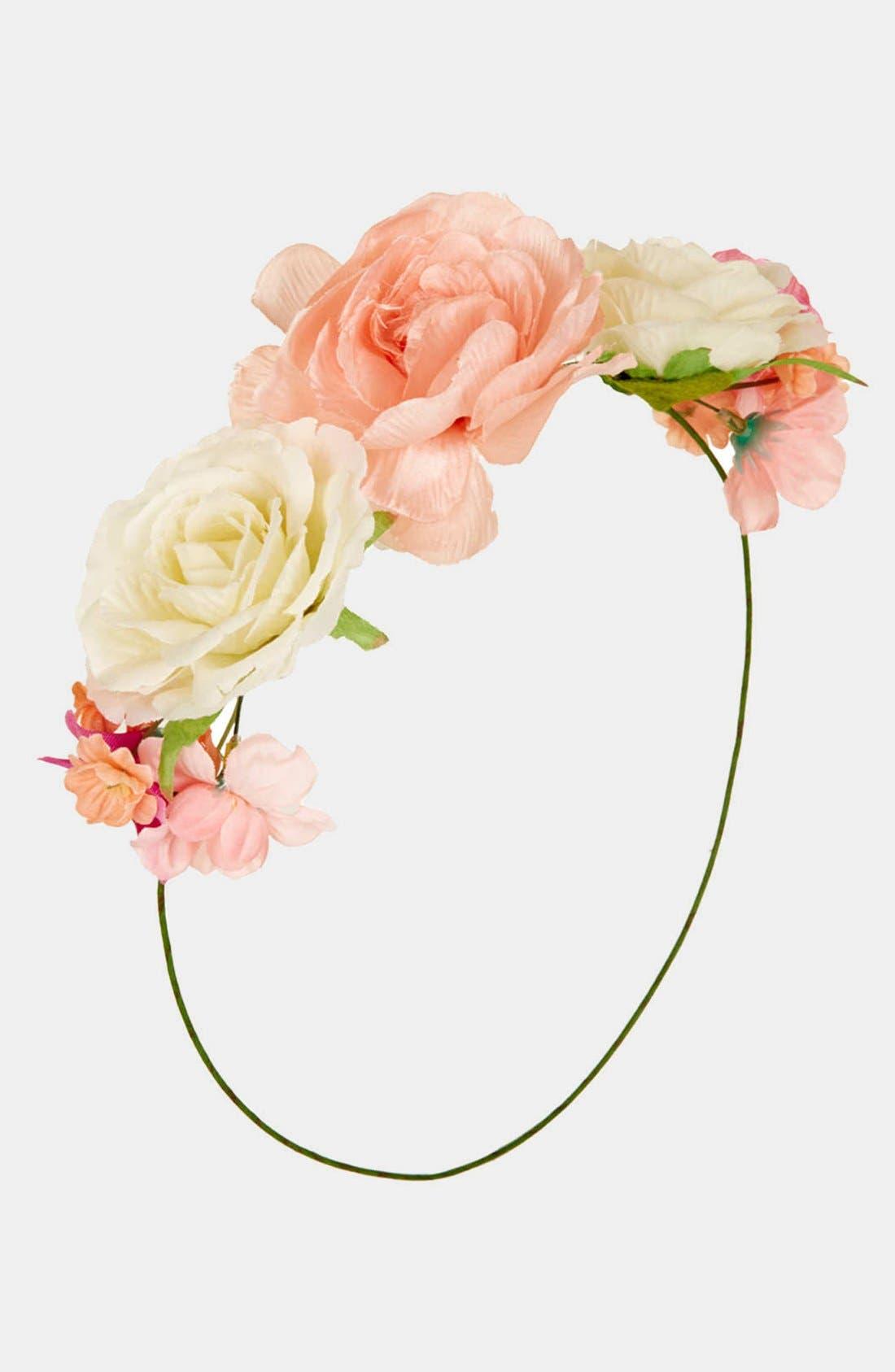 Main Image - Topshop Floral Headband