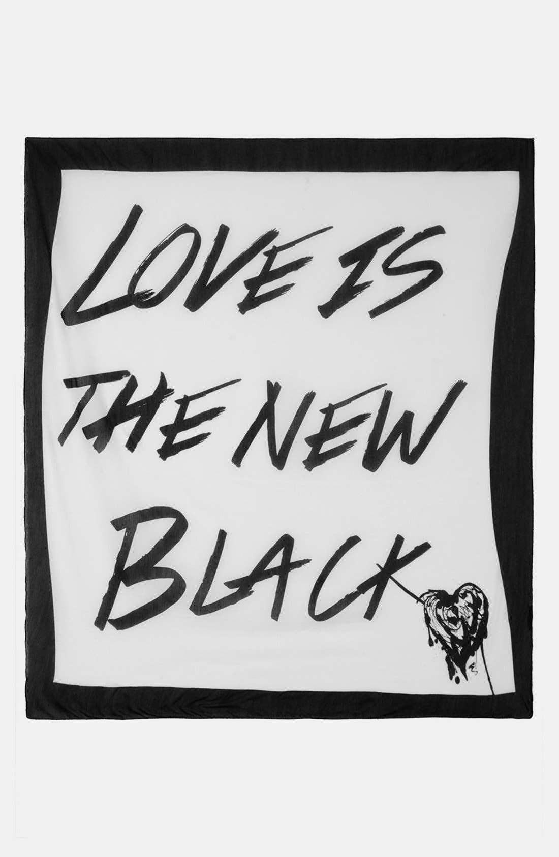 Alternate Image 2  - Topshop 'Love Is the New Black' Square Scarf