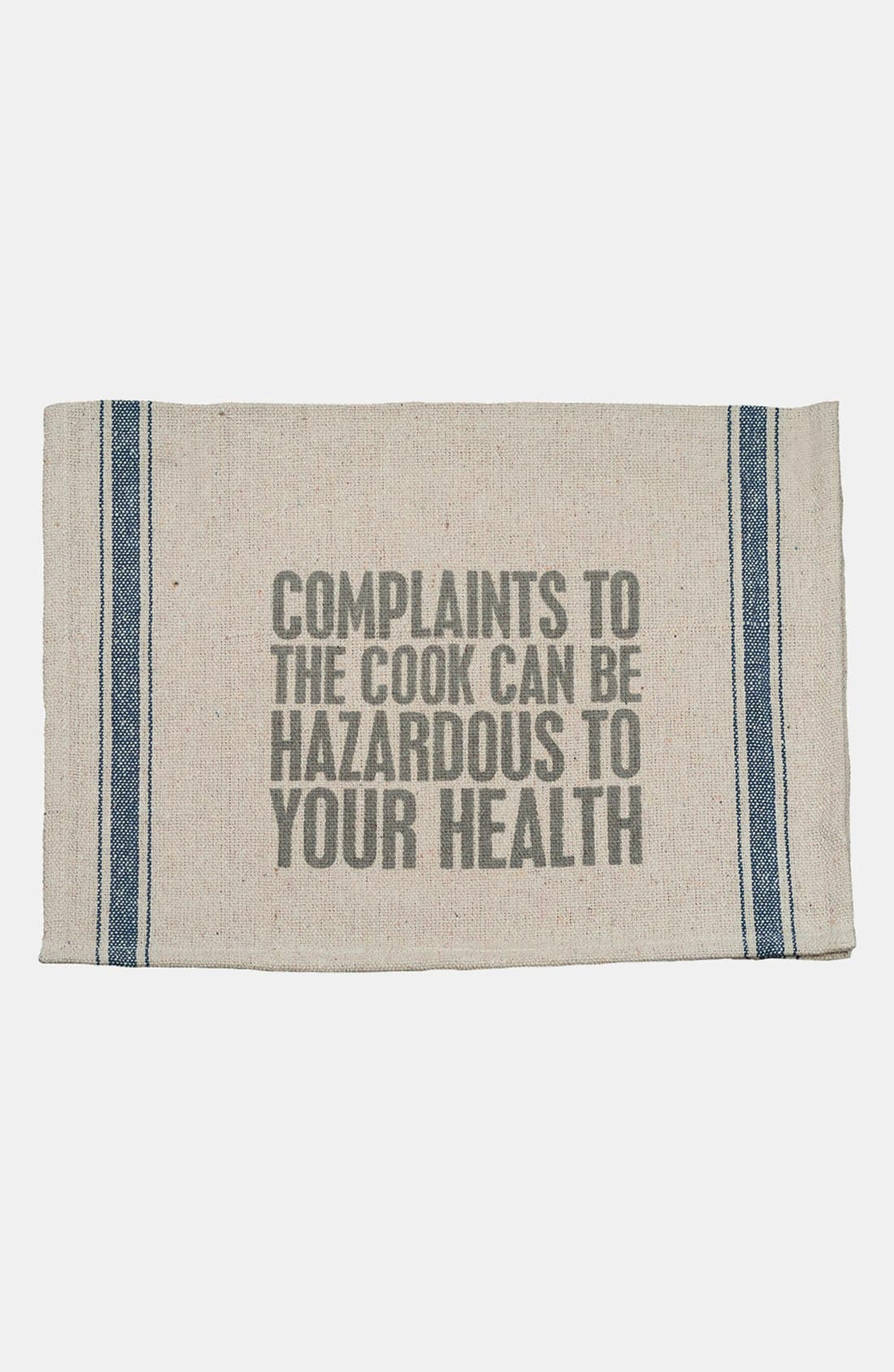 Main Image - Primitives by Kathy 'Complaints to the Cook' Tea Towel