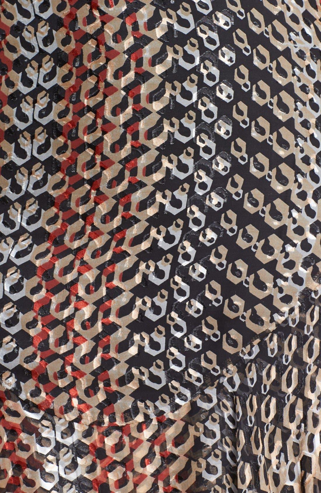 Alternate Image 3  - Diane von Furstenberg 'Kali' Silk Blend A-Line Dress