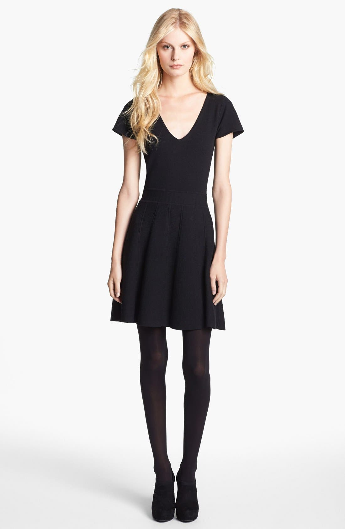Alternate Image 1 Selected - Theory 'Anderz' Wool Blend A-Line Dress
