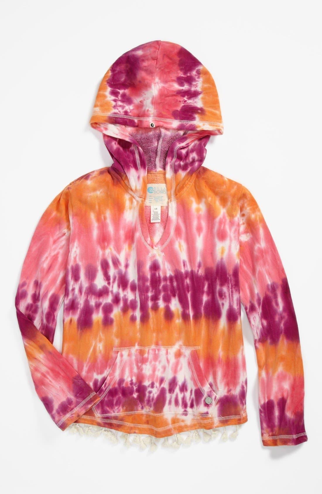 Main Image - Billabong 'Down the Road' Tie Dye Hoodie (Big Girls)