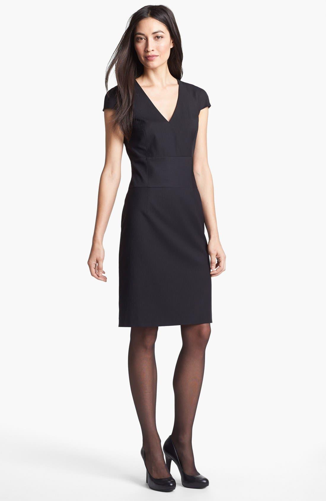 Alternate Image 1 Selected - BOSS HUGO BOSS 'Dilluka' Pinstripe Dress