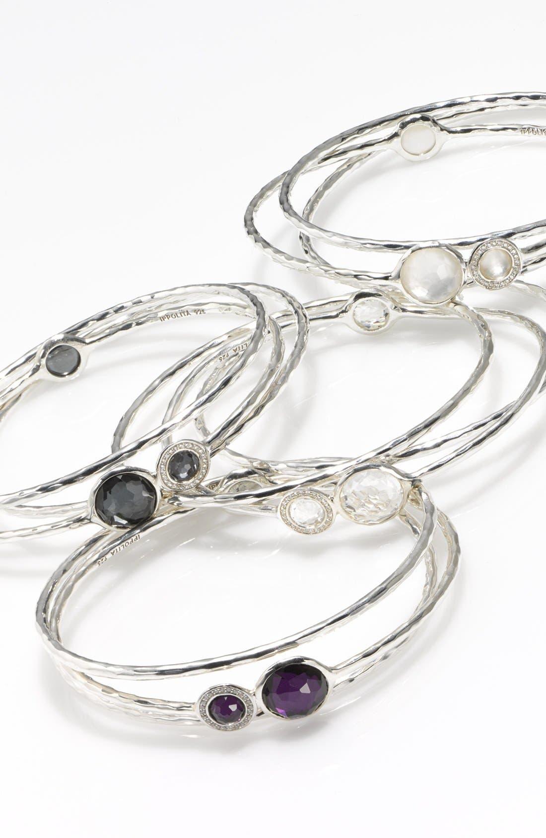 Alternate Image 3  - Ippolita 'Silver Diamond - Lollipop' Stone & Diamond Bangles (Set of 3) (Nordstrom Exclusive)