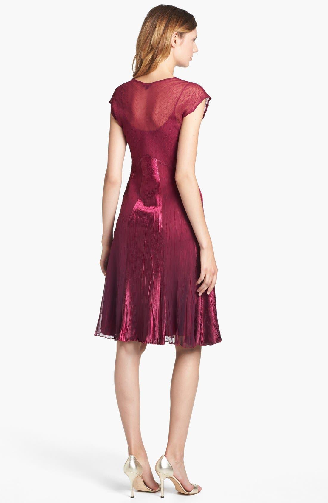 Alternate Image 2  - Komarov Embellished Satin & Chiffon Dress