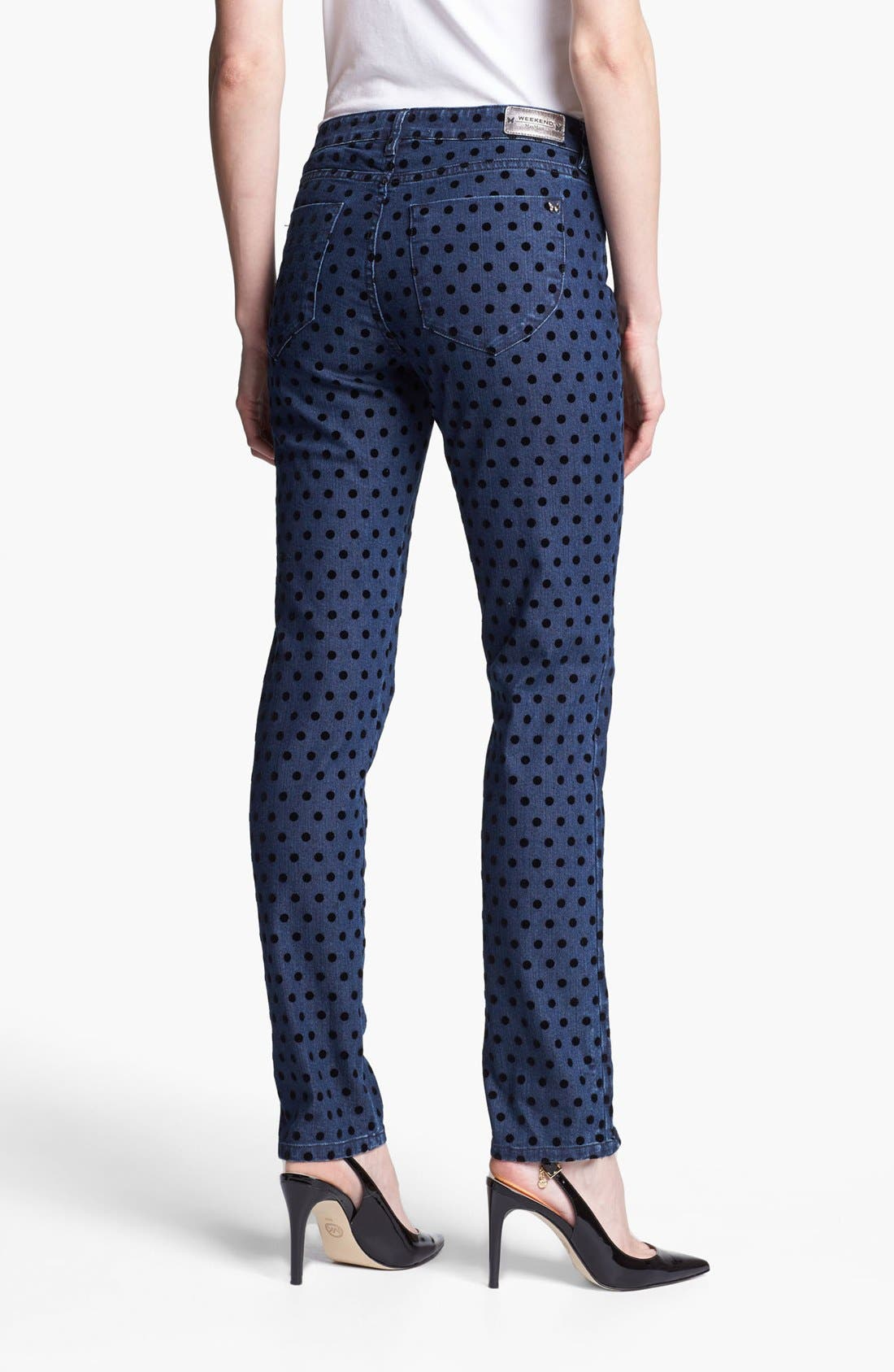 Alternate Image 2  - Weekend Max Mara 'Cirella' Flocked Dot Jeans