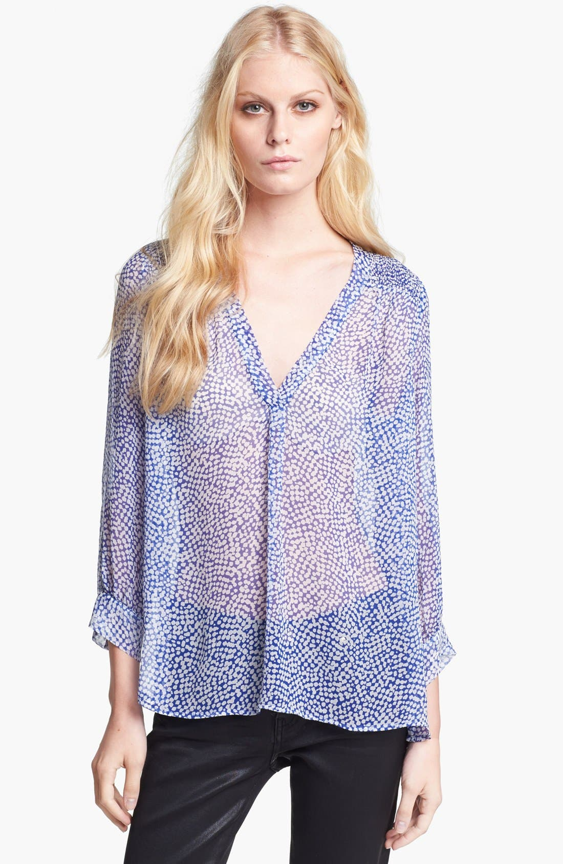 Alternate Image 1 Selected - Joie 'Aceline' Print Silk Shirt