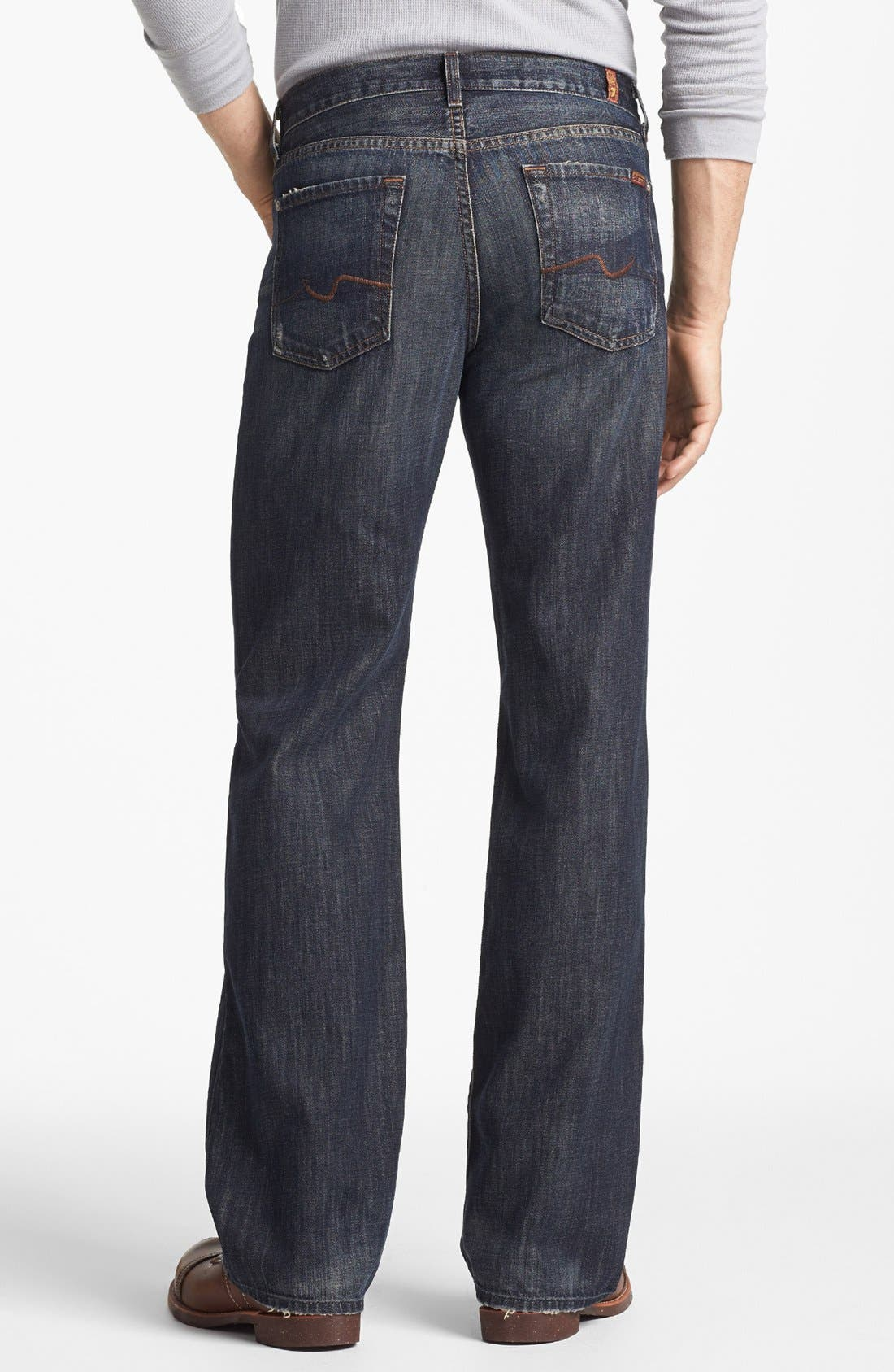 Alternate Image 1  - 7 For All Mankind® Relaxed Straight Leg Jeans (Montana)
