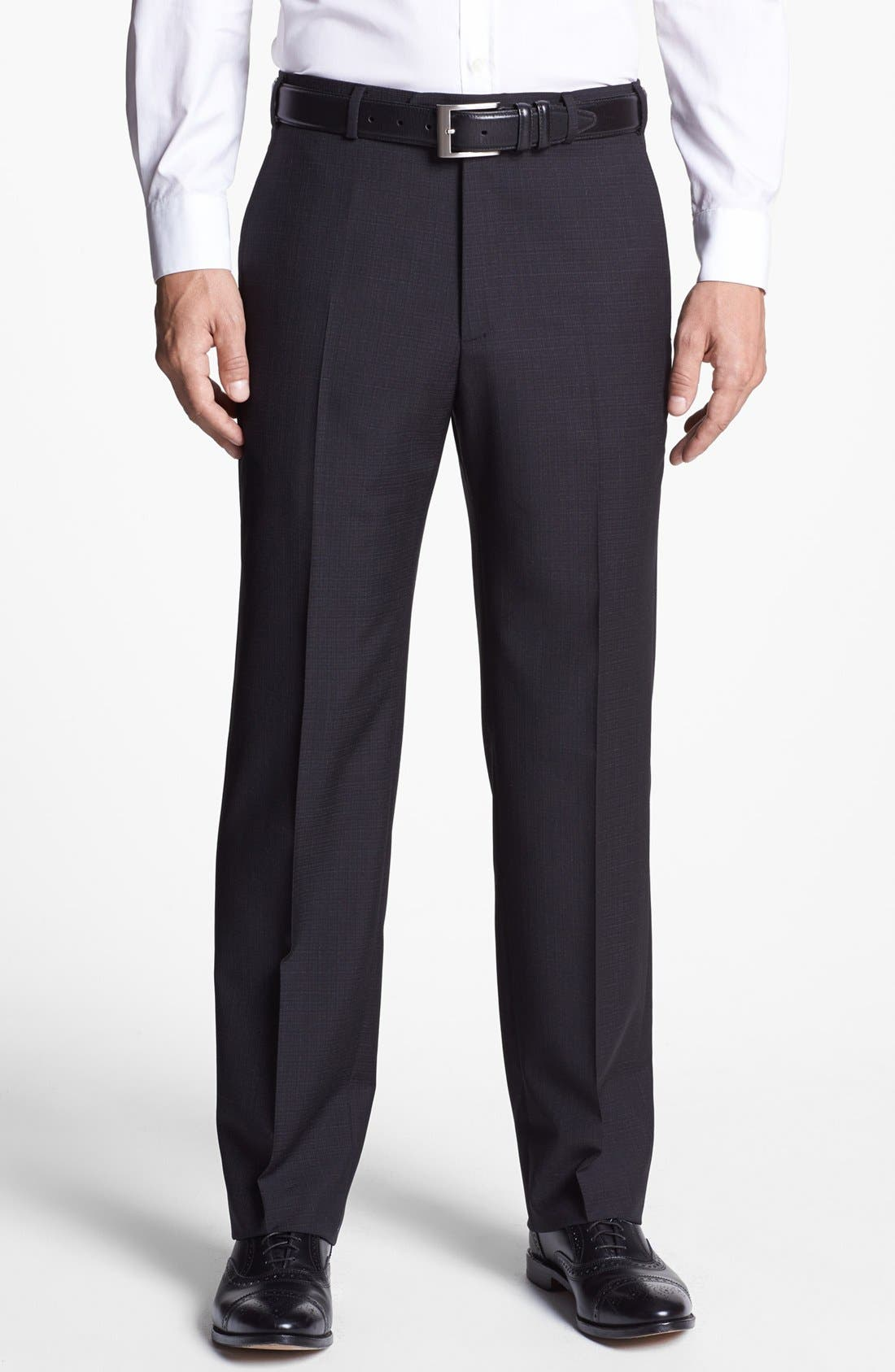 Alternate Image 1 Selected - Zanella 'Devon' Flat Front Trousers