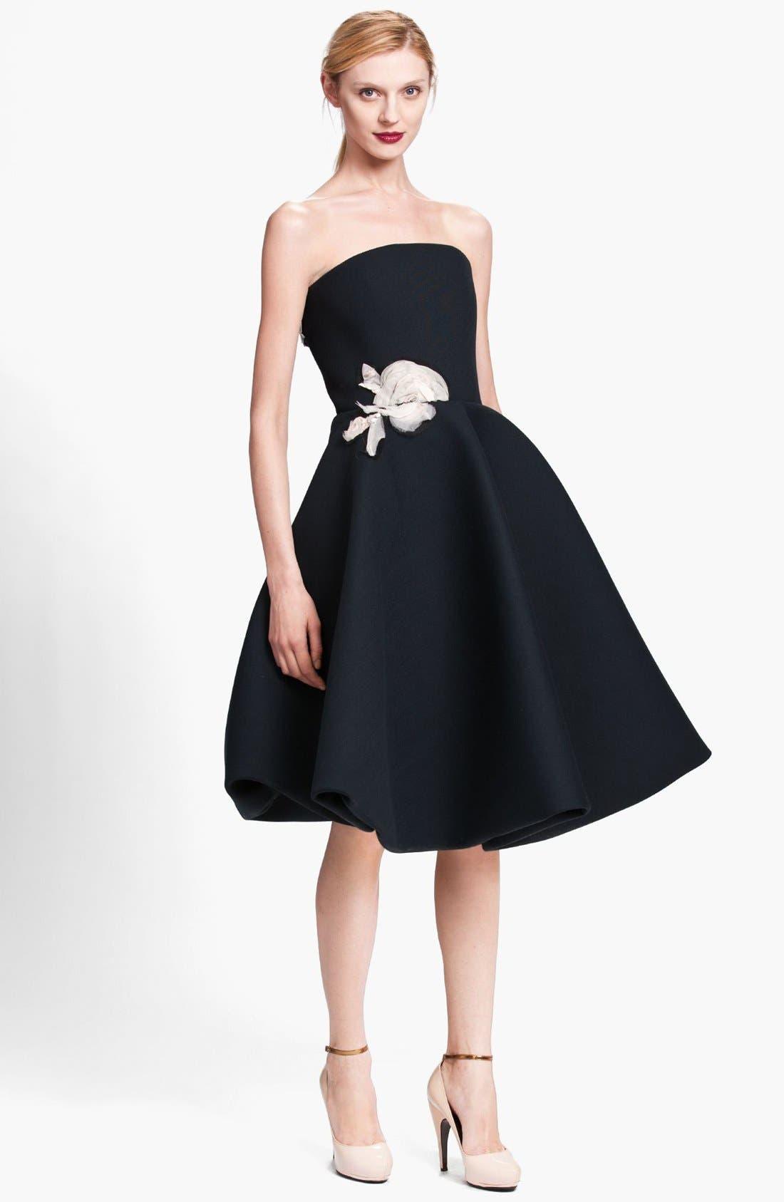Main Image - Lanvin Floral Appliqué Strapless Dress