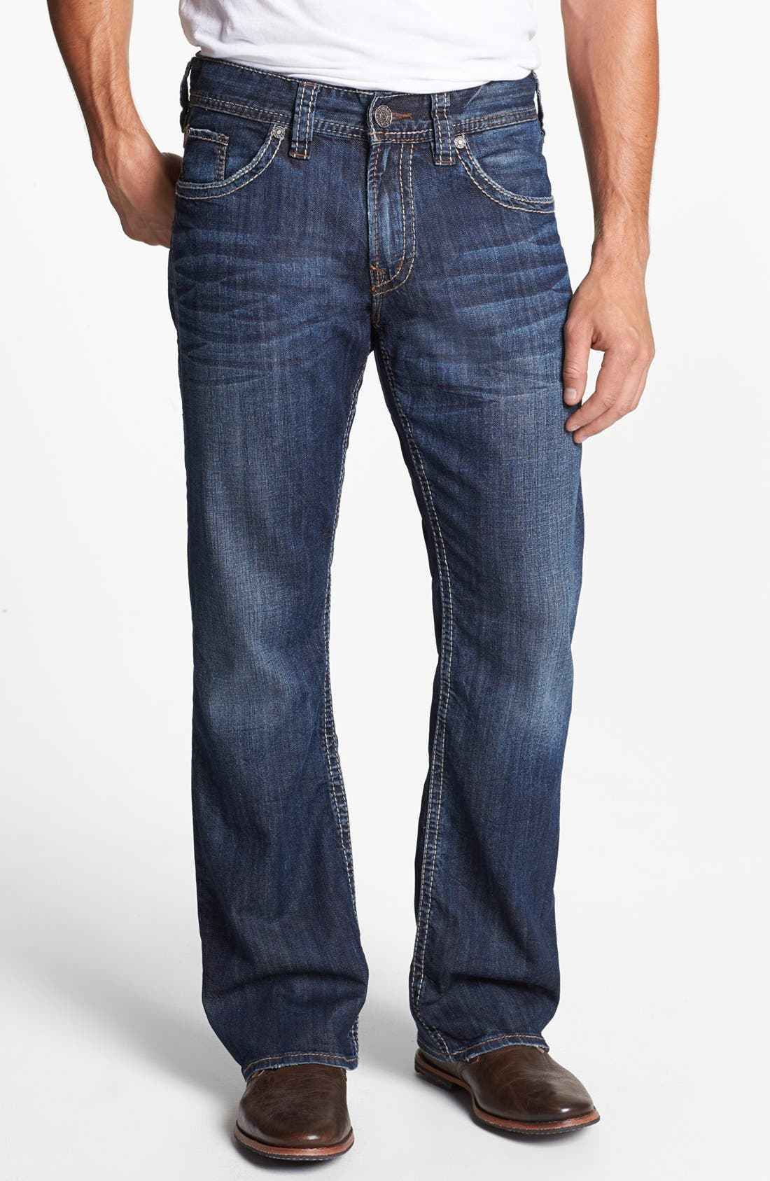 Alternate Image 2  - Silver Jeans Co. 'Zac' Relaxed Jeans (Indigo)