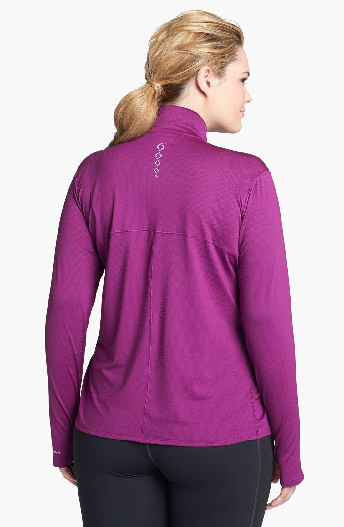 Alternate Image 2  - Moving Comfort 'Sprint' Half Zip Pullover (Plus Size)