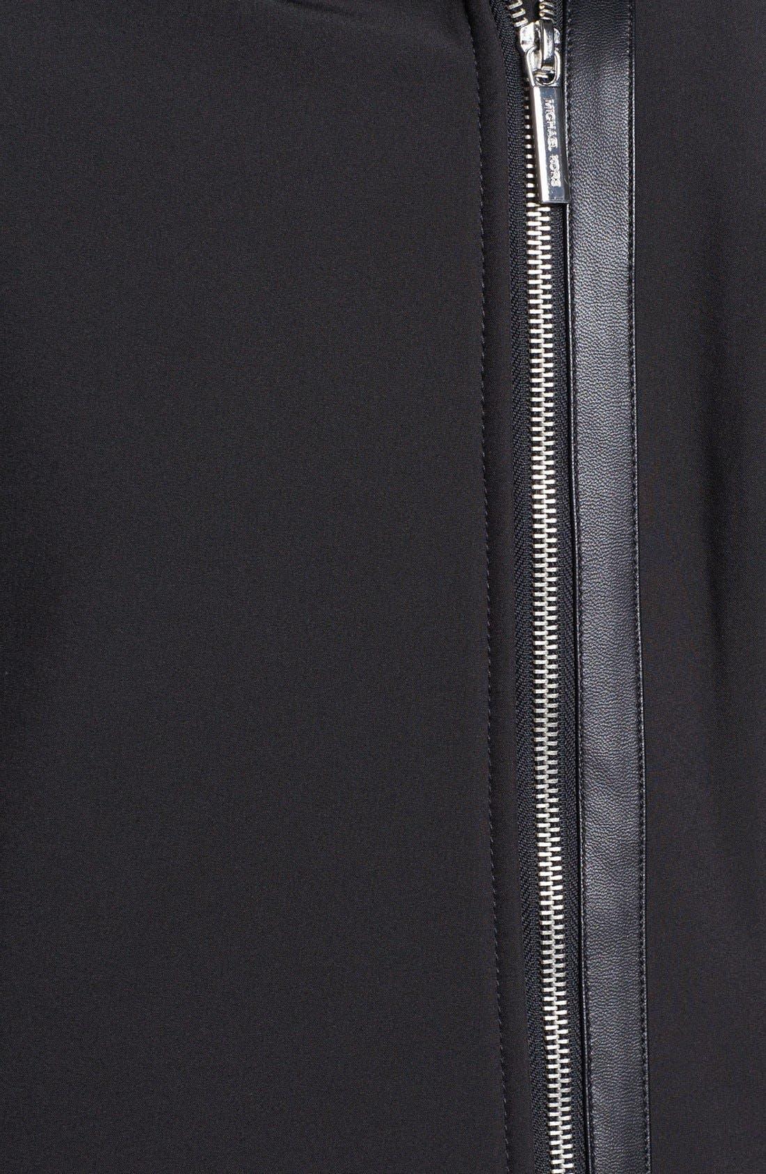 Alternate Image 3  - MICHAEL Michael Kors Hooded Faux Leather Trim Soft Shell Jacket (Plus Size)