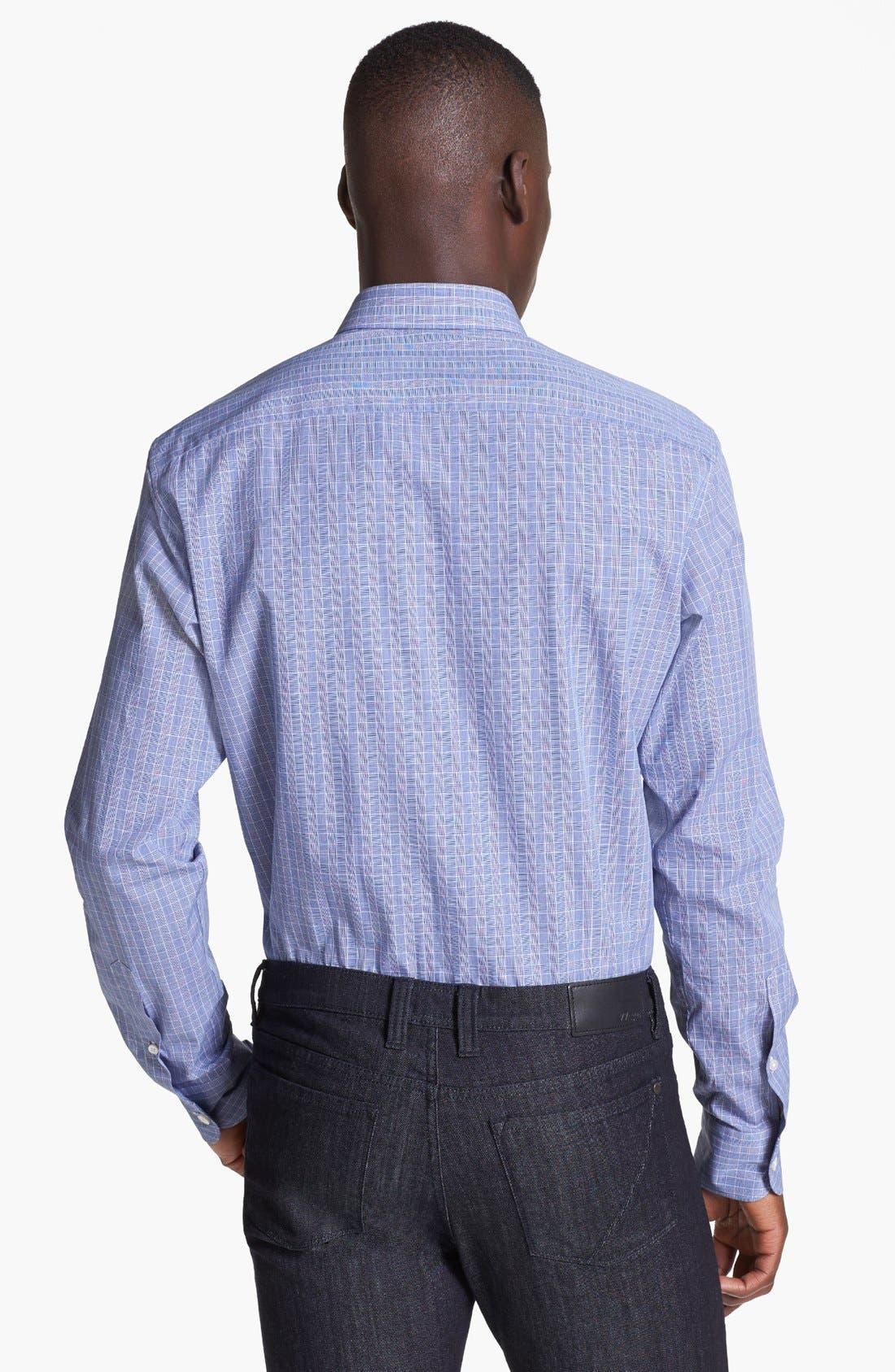 Alternate Image 2  - Z Zegna Slim Fit Glen Plaid Woven Shirt