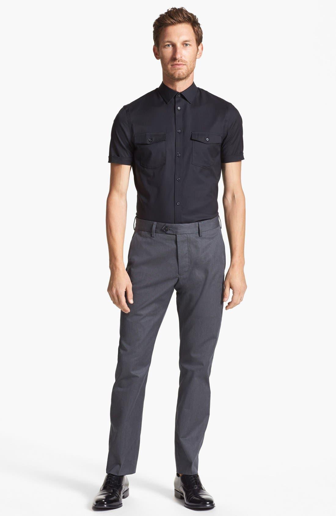 Alternate Image 3  - Calibrate Slim Fit Non-Iron Short Sleeve Shirt