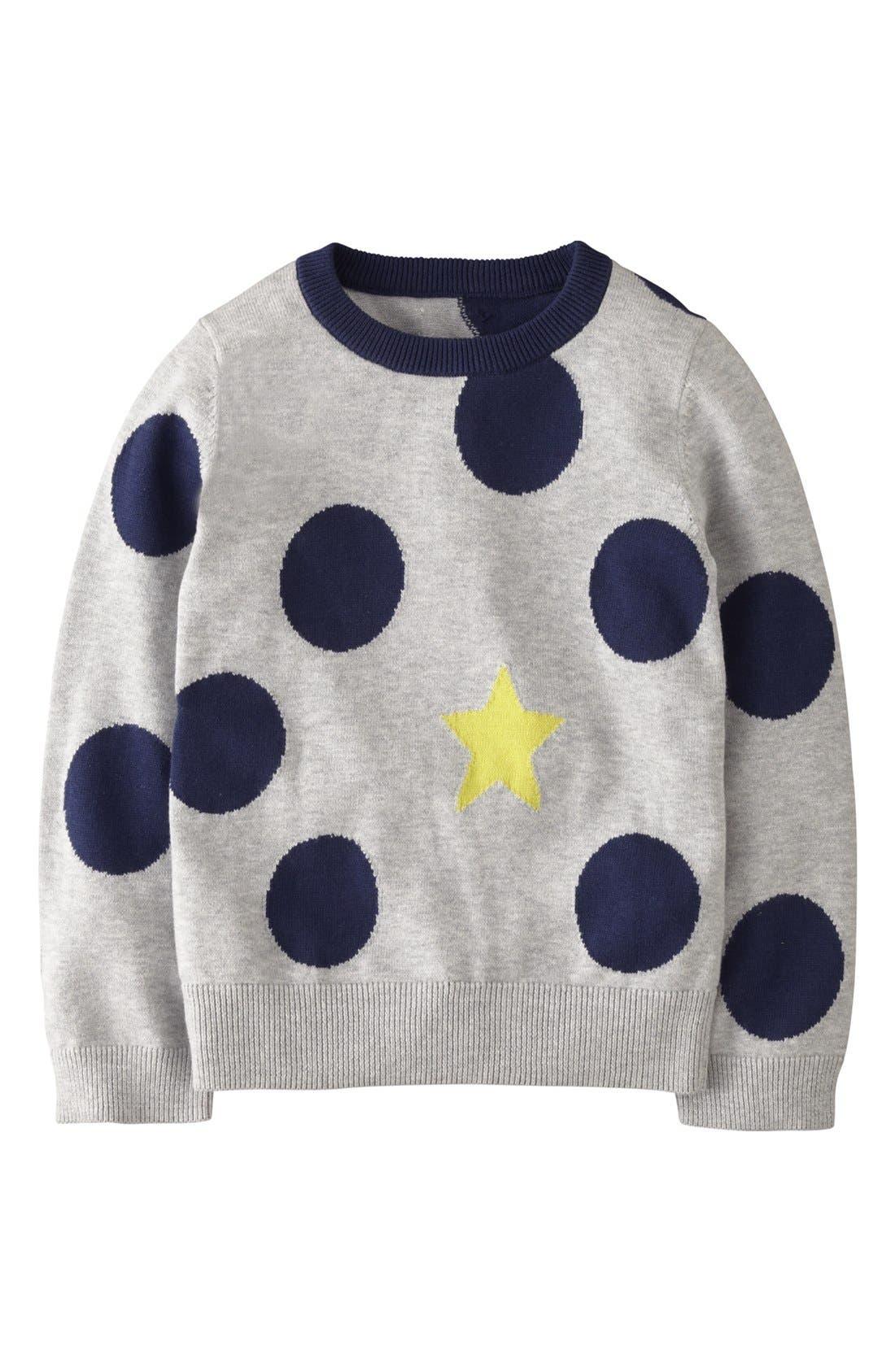 Alternate Image 1 Selected - Mini Boden Intarsia Sweater (Little Girls & Big Girls)