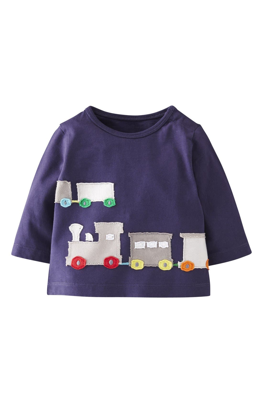 Main Image - Mini Boden 'Big Appliqué' T-Shirt (Baby Boys)