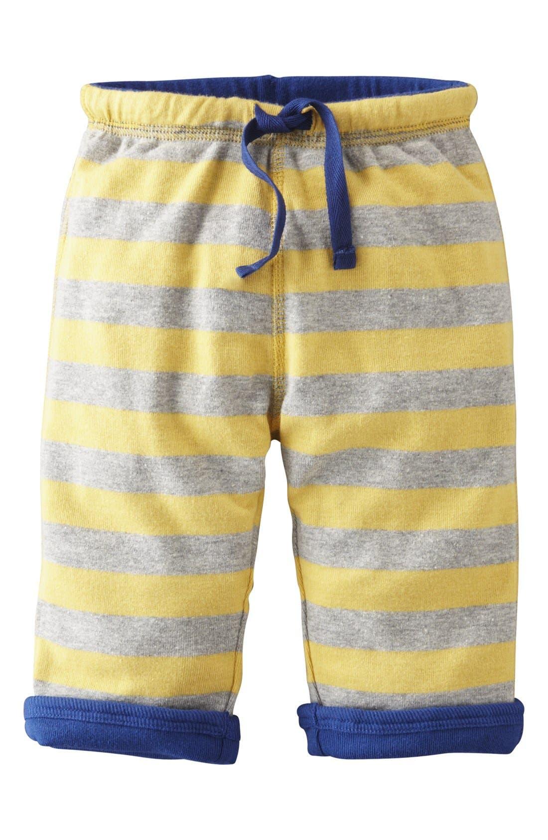 Alternate Image 1 Selected - Mini Boden 'Baggies' Reversible Jersey Pants (Baby Boys)