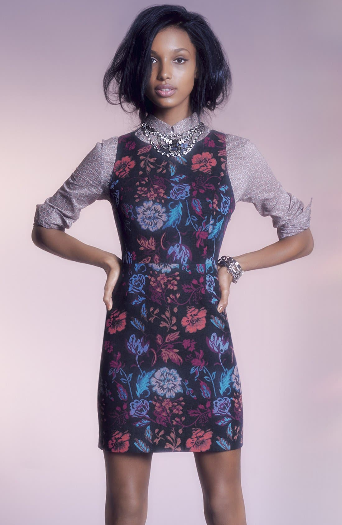 Alternate Image 5  - BB Dakota 'Leona' Brocade Cotton Sheath Dress