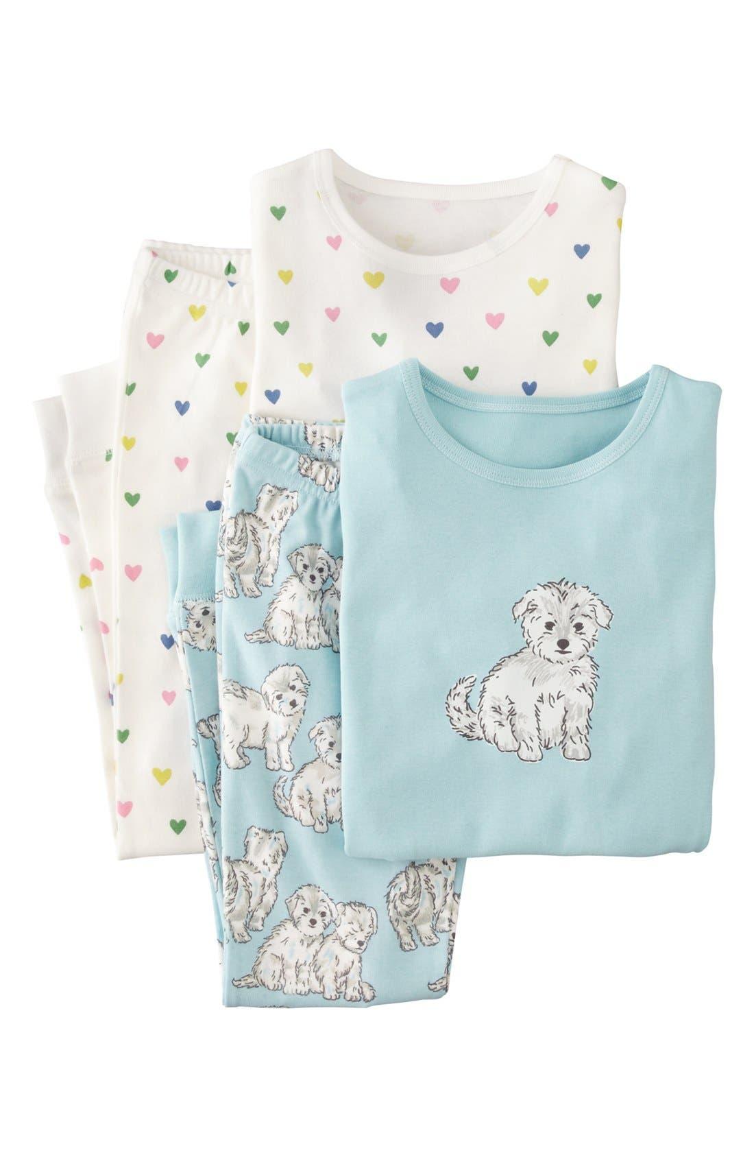 Alternate Image 1 Selected - Mini Boden Snug Fitting Pajamas (2-Pack) (Toddler Girls, Little Girls & Big Girls)