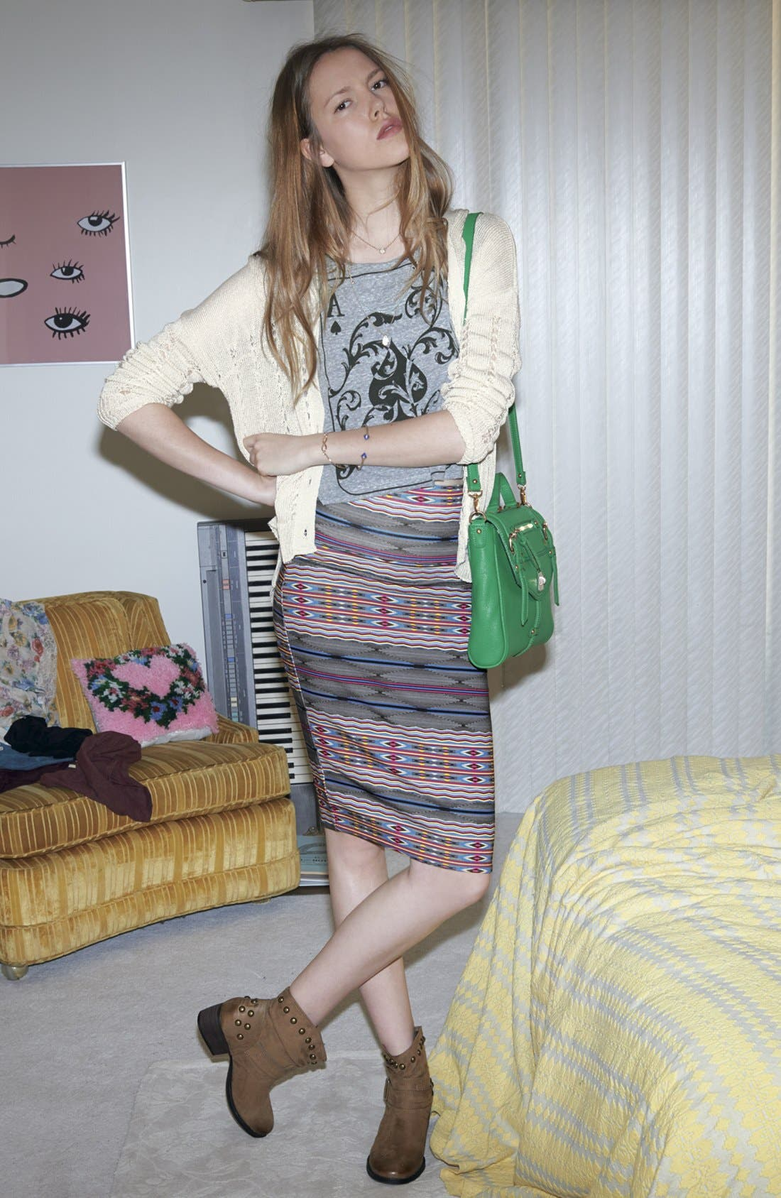 Alternate Image 4  - Lily White Mid-Length Pencil Skirt (Juniors)