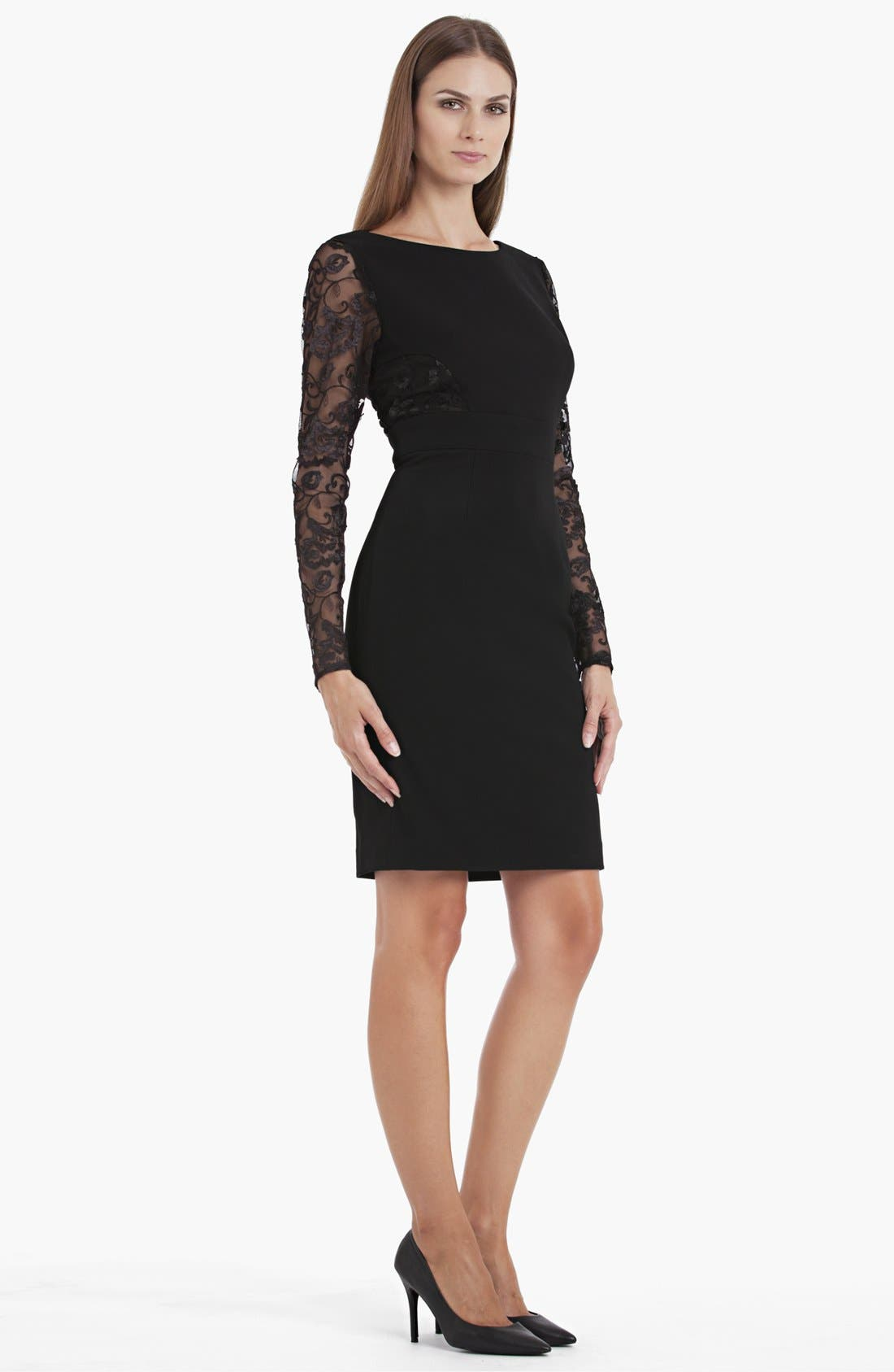 Alternate Image 1 Selected - JS Collections Lace Detail Sheath Dress