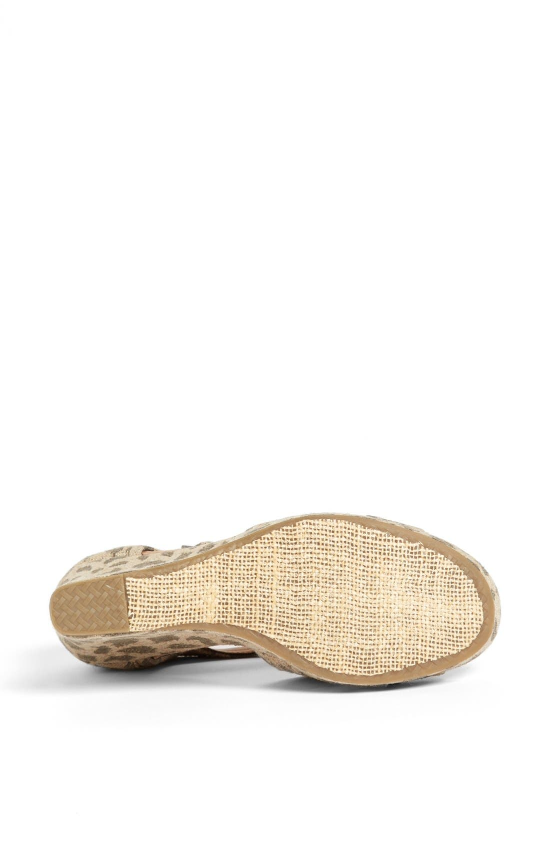 Alternate Image 4  - TOMS 'Leopard' Wedge Sandal